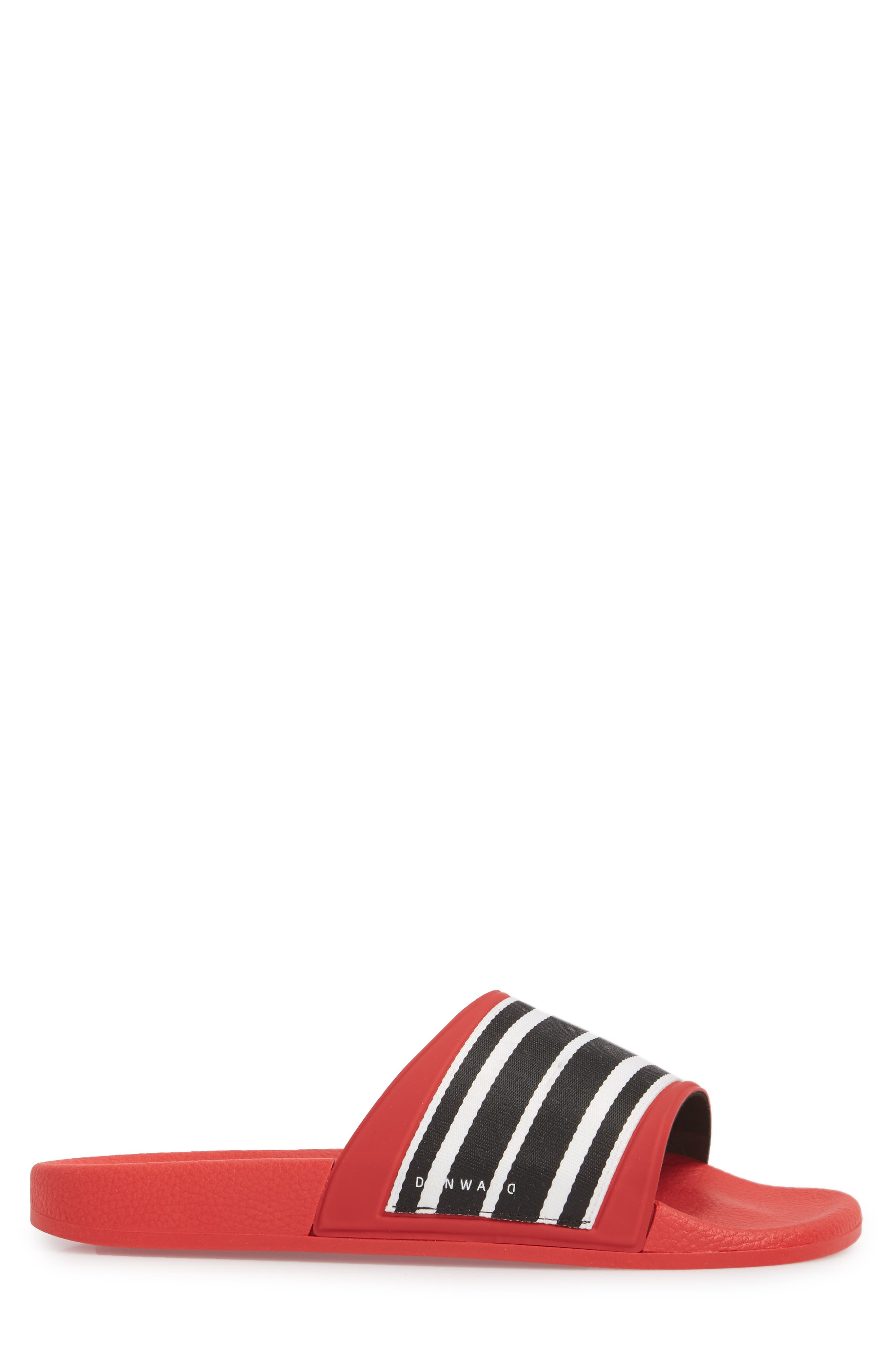 Patterned Sport Slide,                             Alternate thumbnail 3, color,                             Red