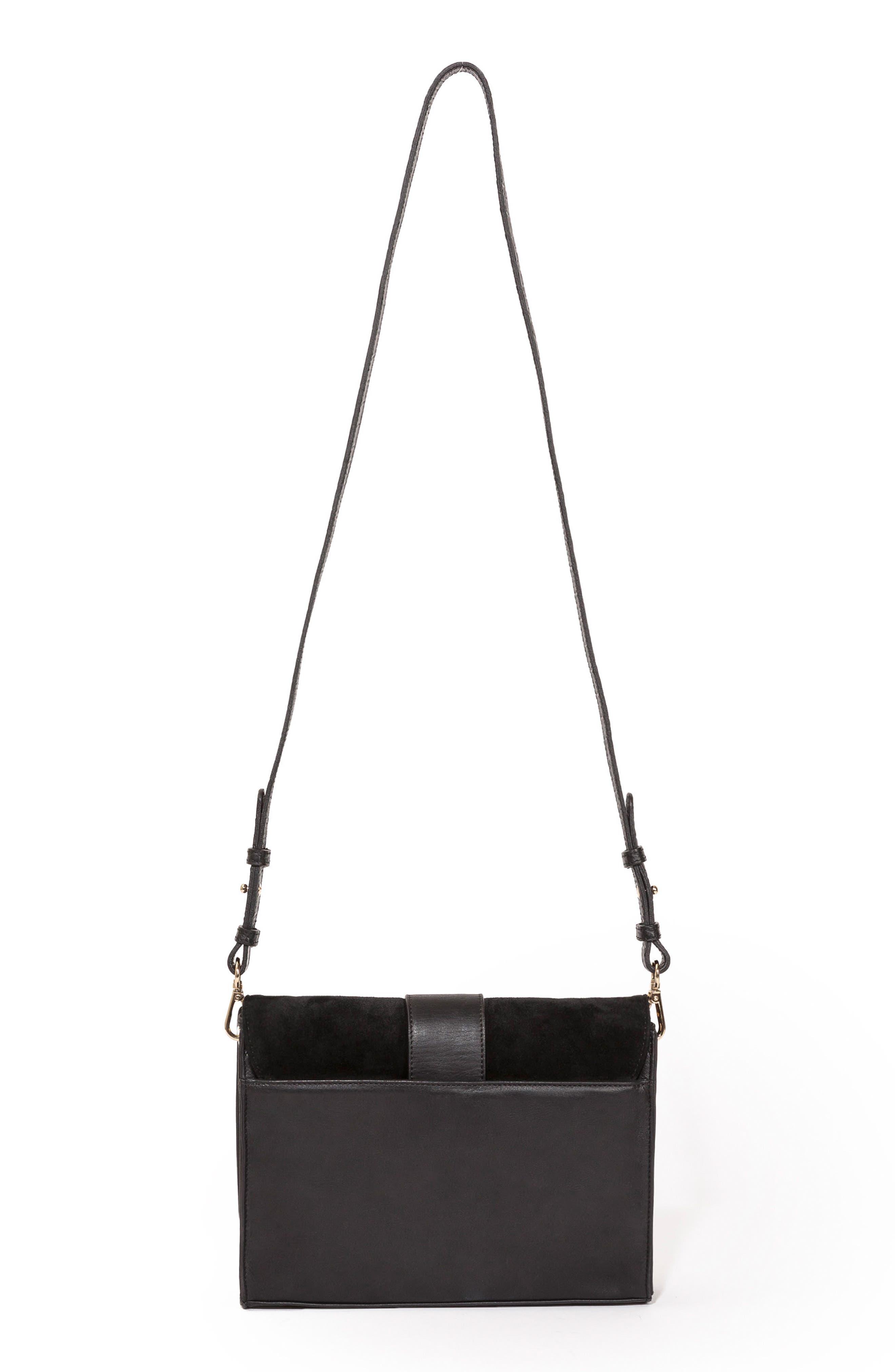 Tiger Crossbody Bag,                             Alternate thumbnail 3, color,                             Black