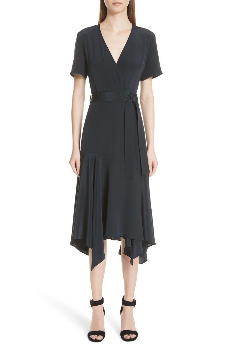 Cora Silk Wrap Dress