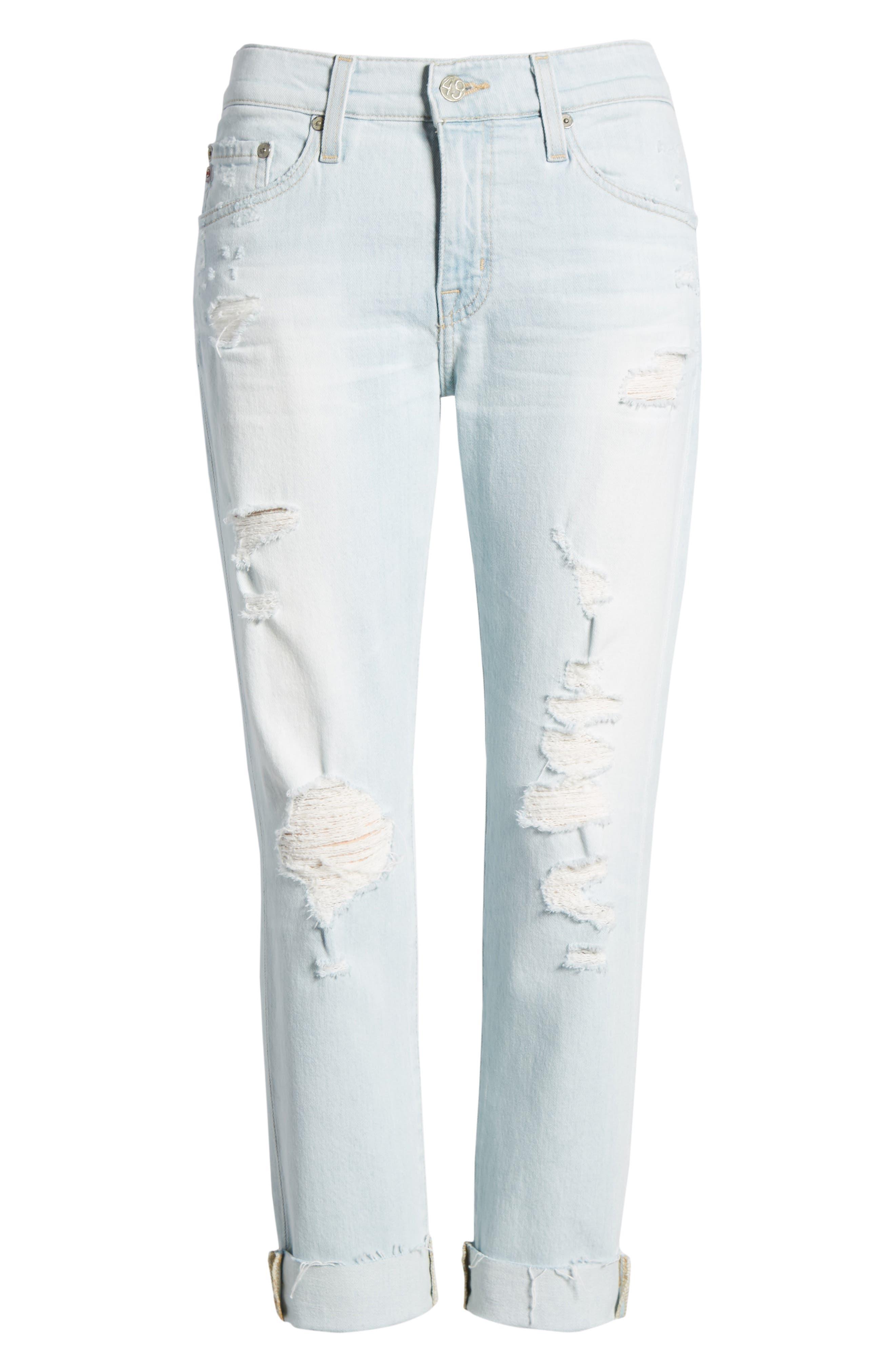Alternate Image 6  - AG The Ex-Boyfriend Crop Slim Jeans