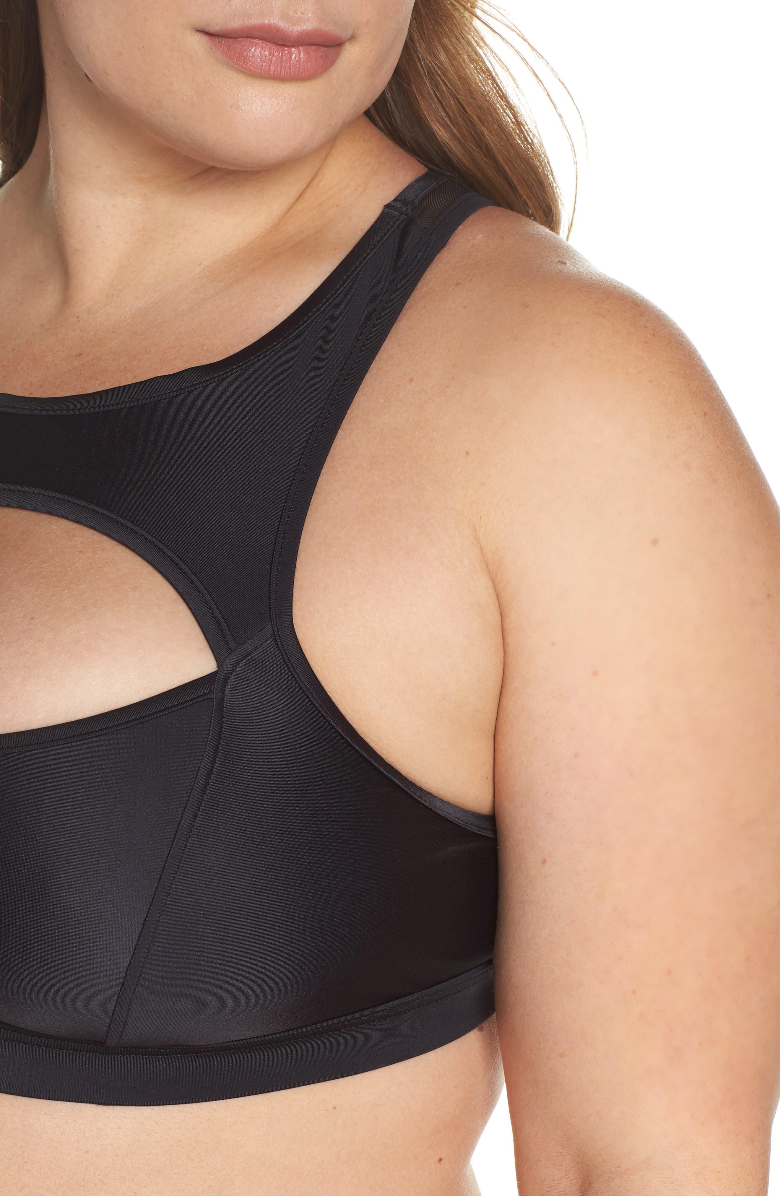 Saldana Cutout Bikini Top,                             Alternate thumbnail 4, color,                             Black