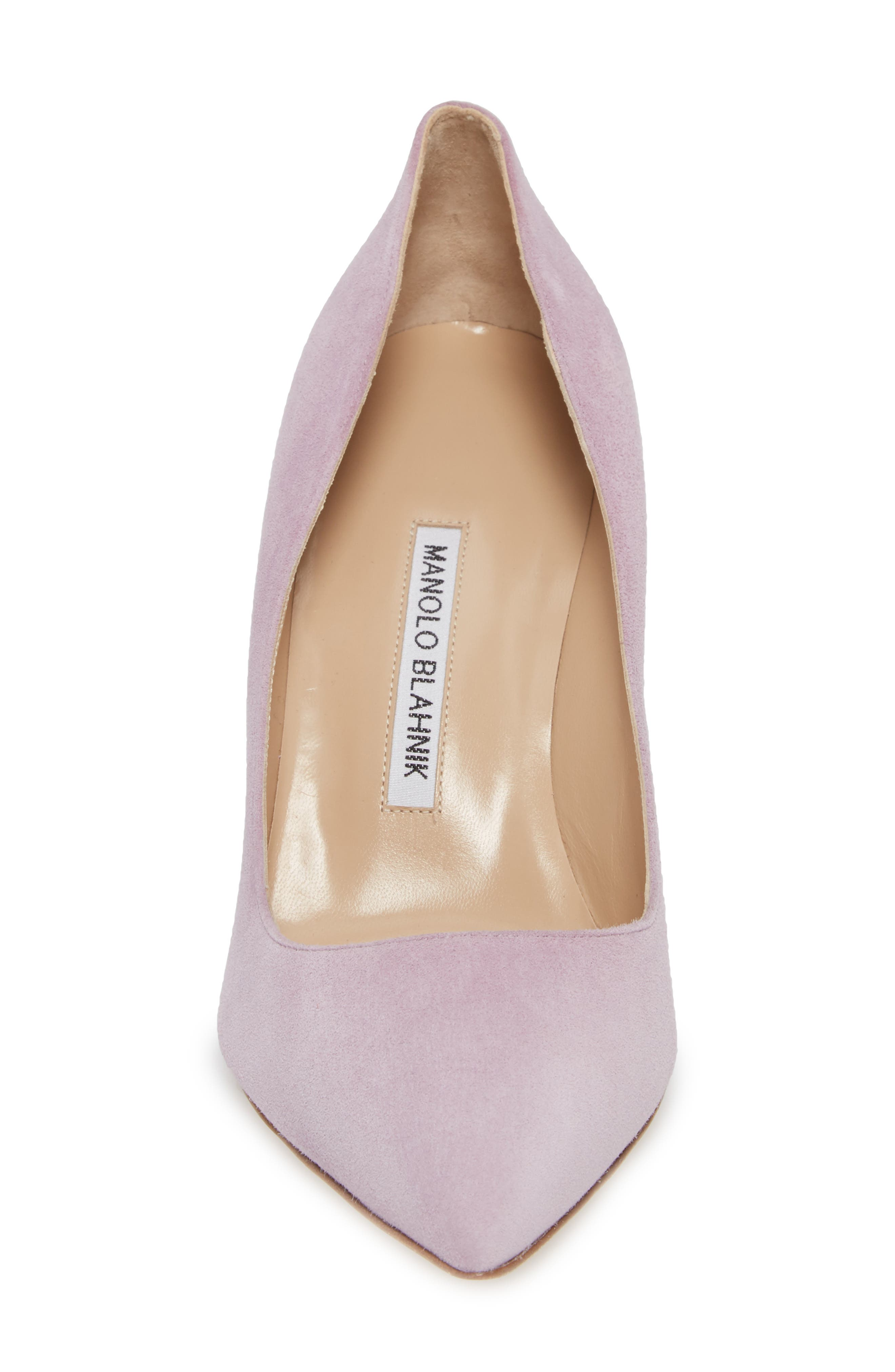 BB Pointy Toe Pump,                             Alternate thumbnail 4, color,                             Lavender Suede