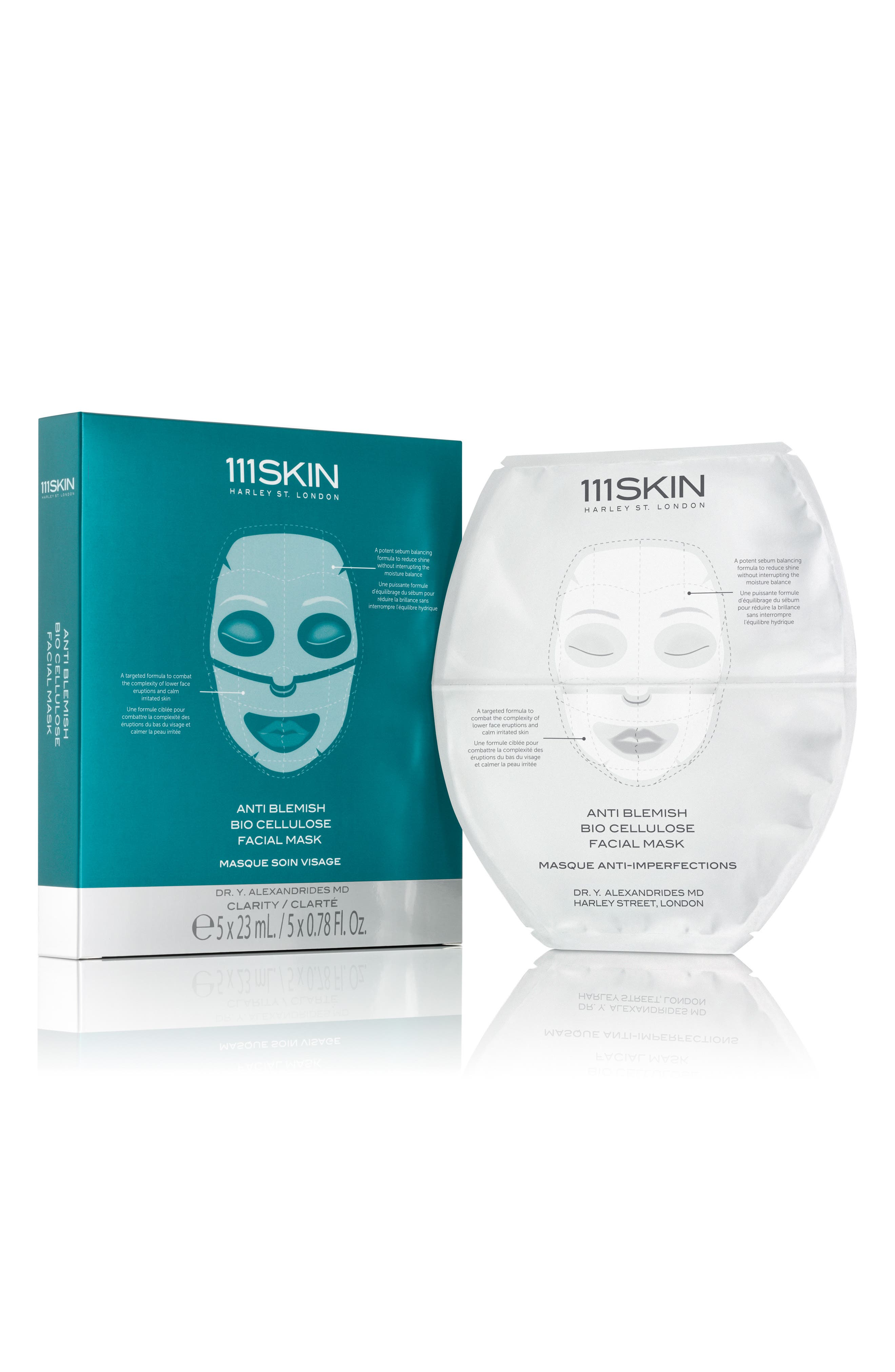SPACE.NK.apothecary 111SKIN Anti-Blemish Bio-Cellulose Facial Mask,                             Main thumbnail 1, color,                             No Color