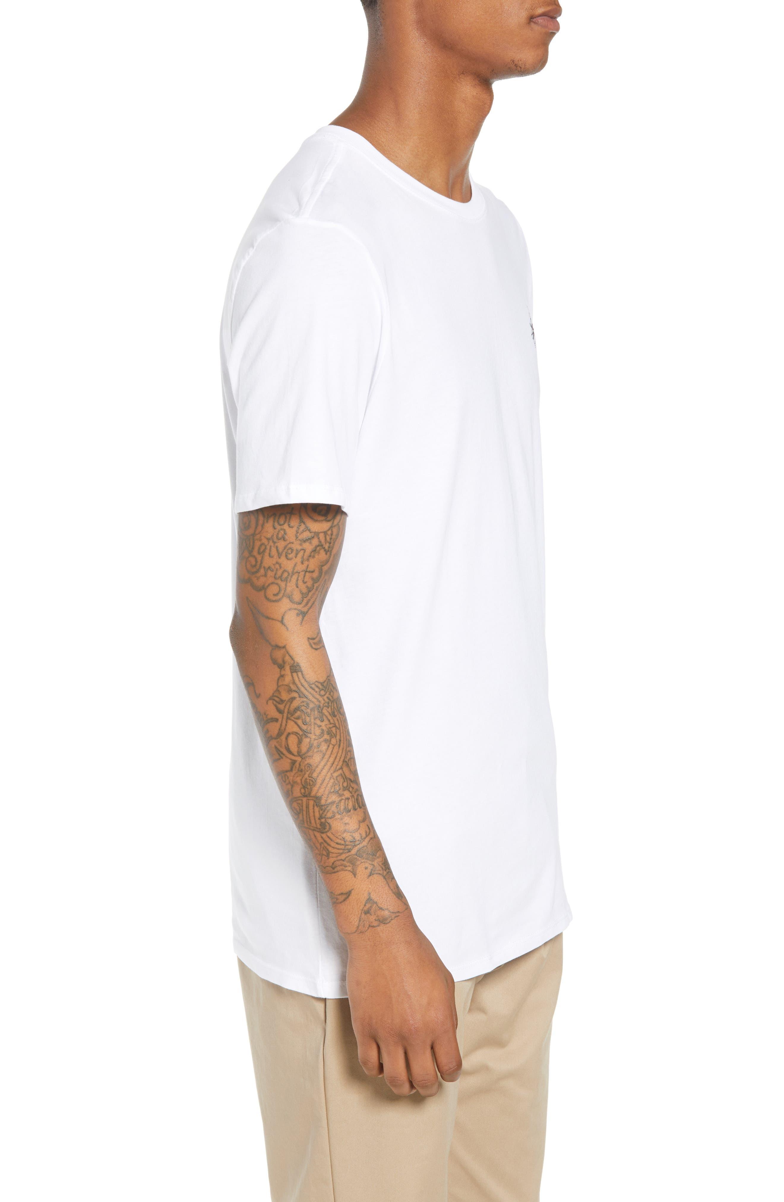 SB Monuments T-Shirt,                             Alternate thumbnail 3, color,                             White/ Black
