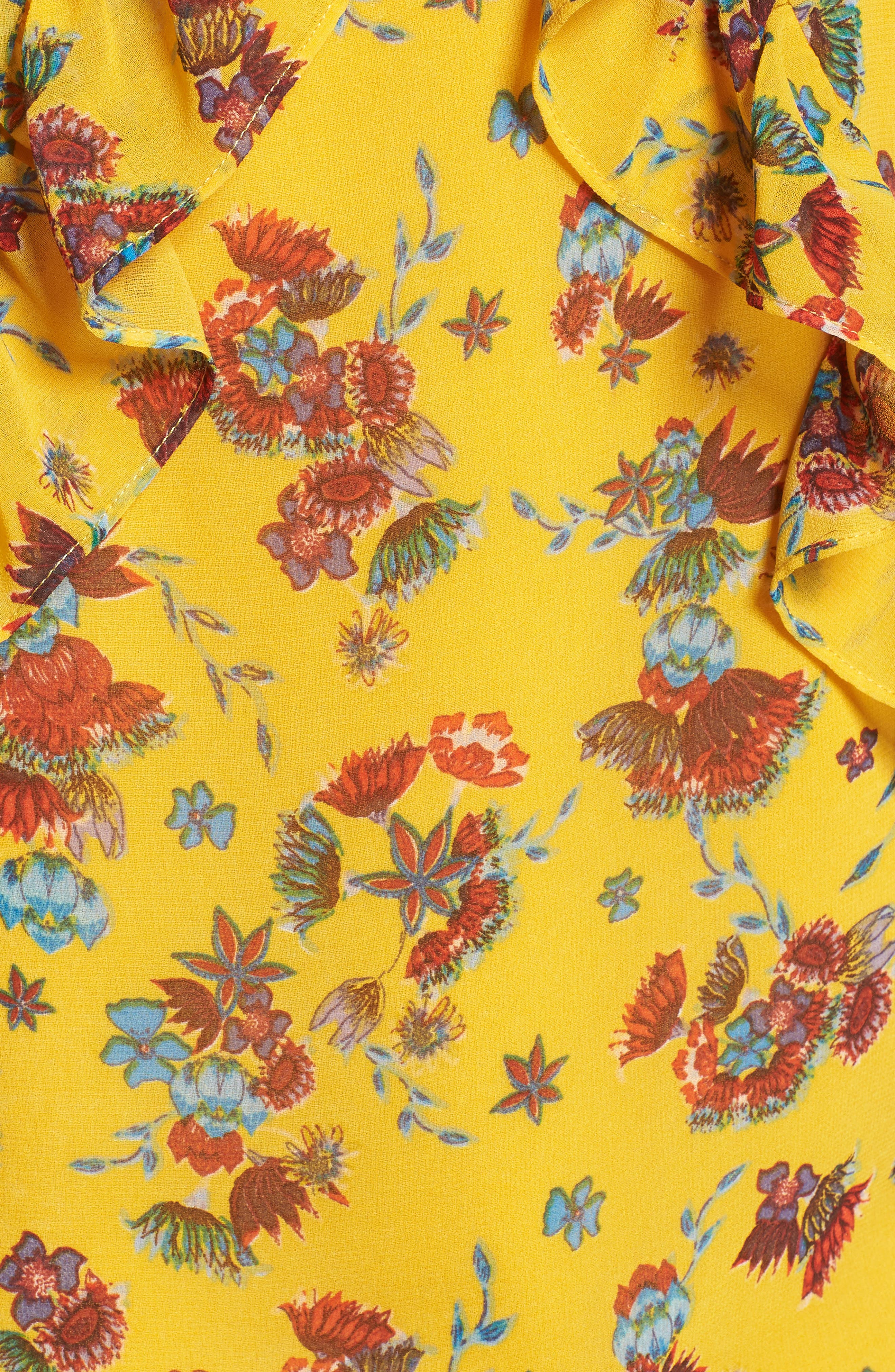 Daisy Top,                             Alternate thumbnail 6, color,                             Yellow Multi