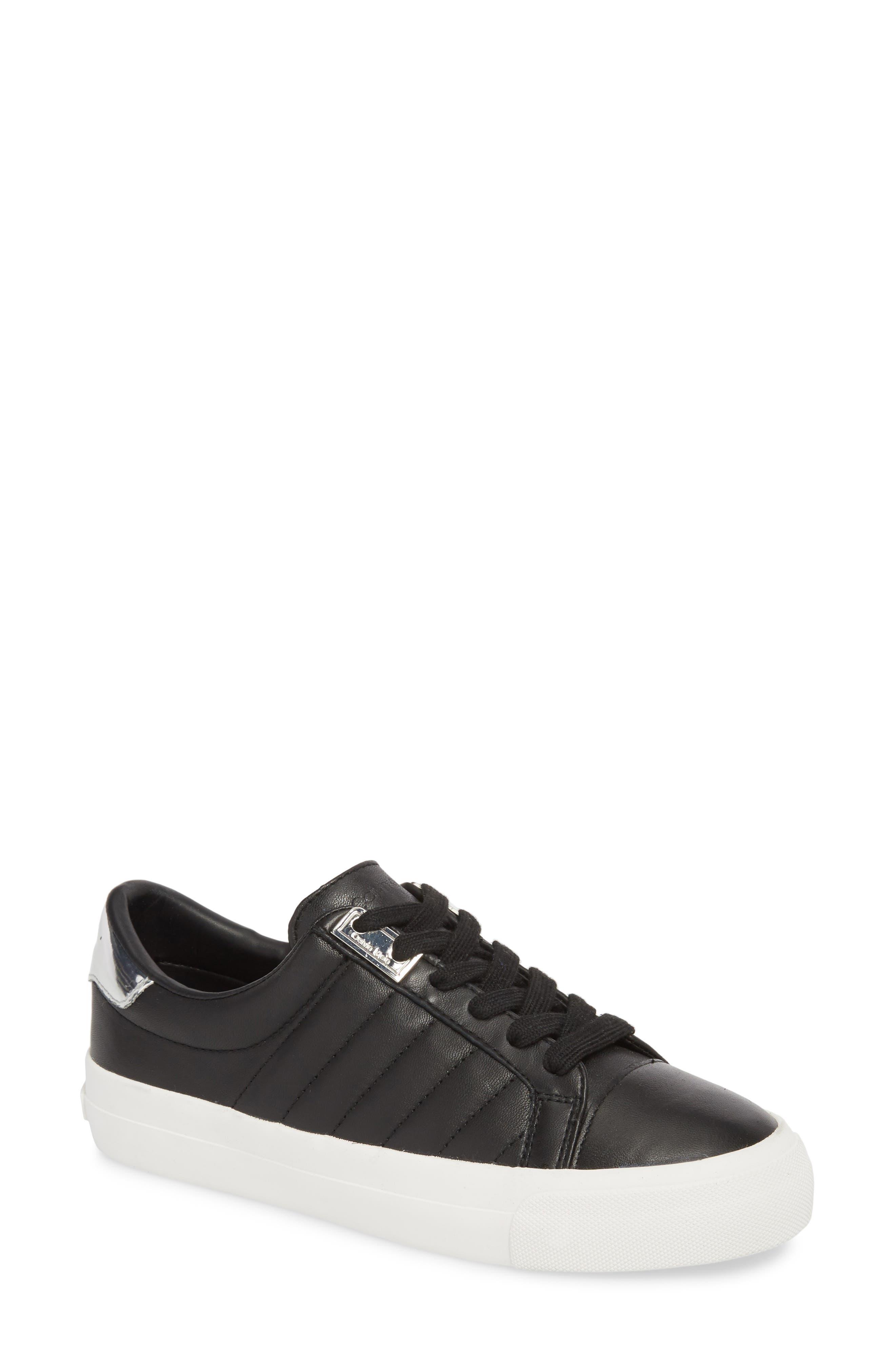Vance Sneaker,                         Main,                         color, Black Leather