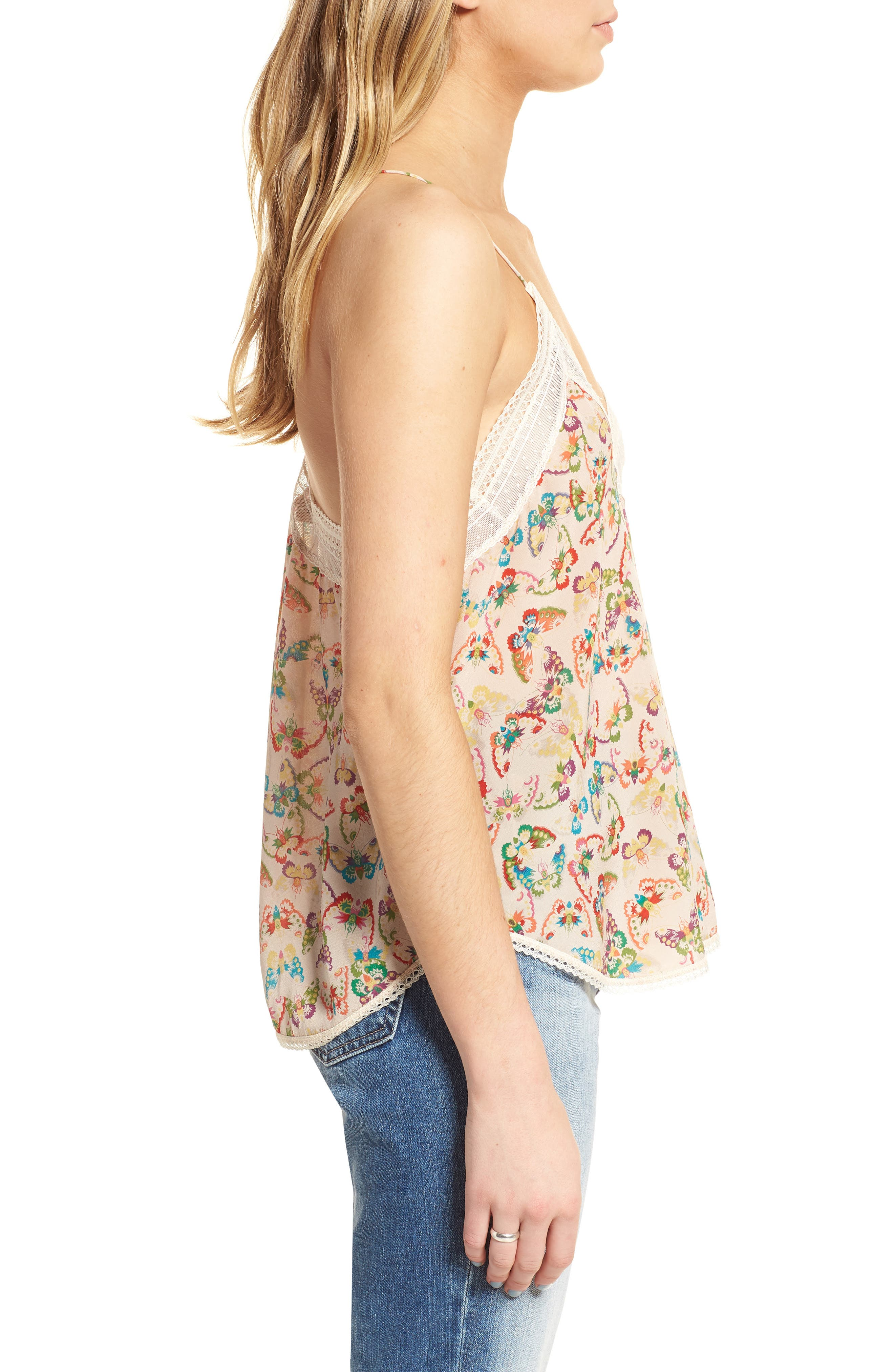 Alternate Image 3  - Zadig & Voltaire Christy Butterfly Silk Camisole