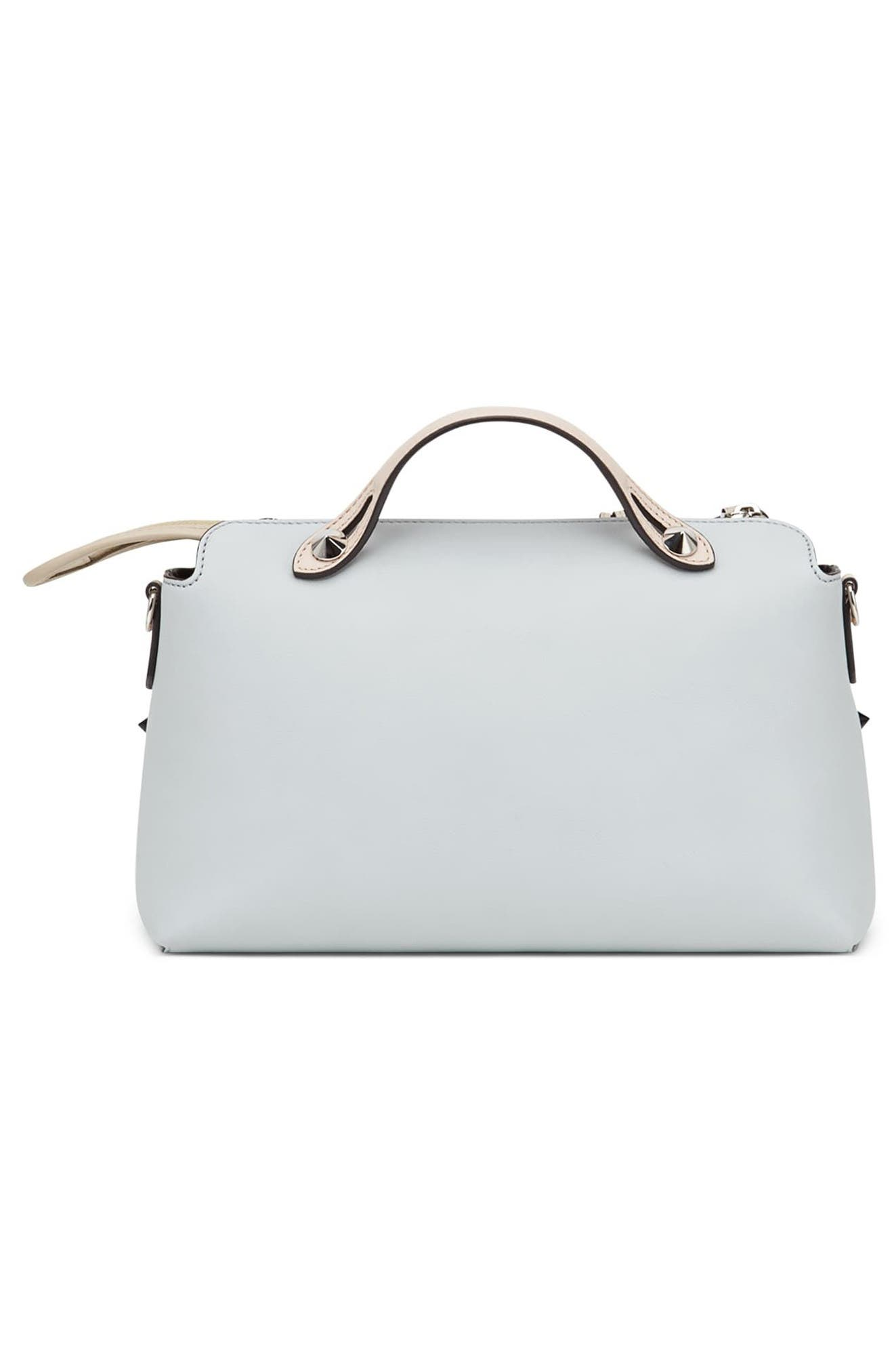 By the Way - Monster Eyes Leather Shoulder Bag,                             Alternate thumbnail 2, color,                             Grigio Perla/ Nuvola Multi