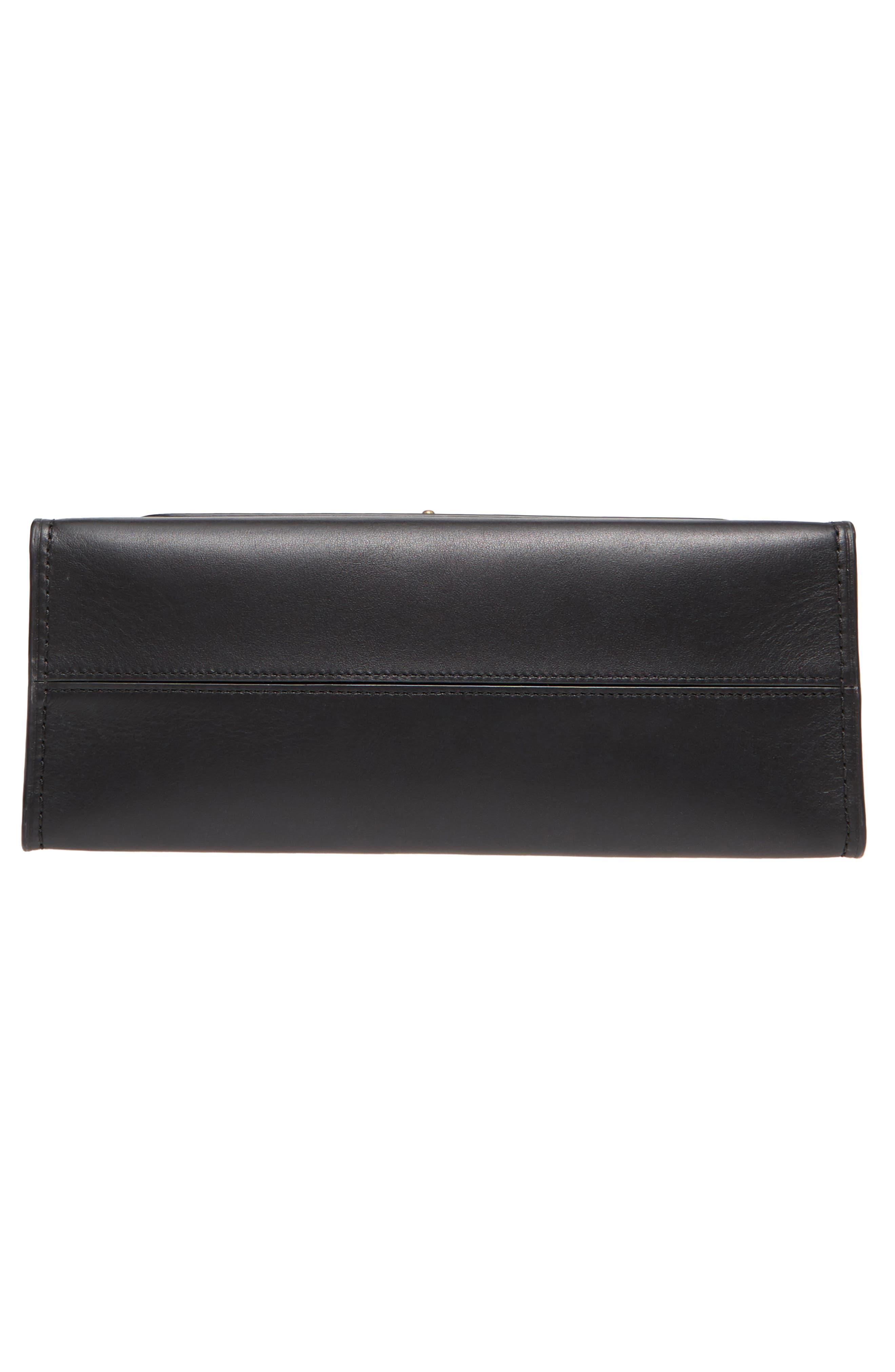 Parker Leather Shoulder Bag,                             Alternate thumbnail 6, color,                             Black