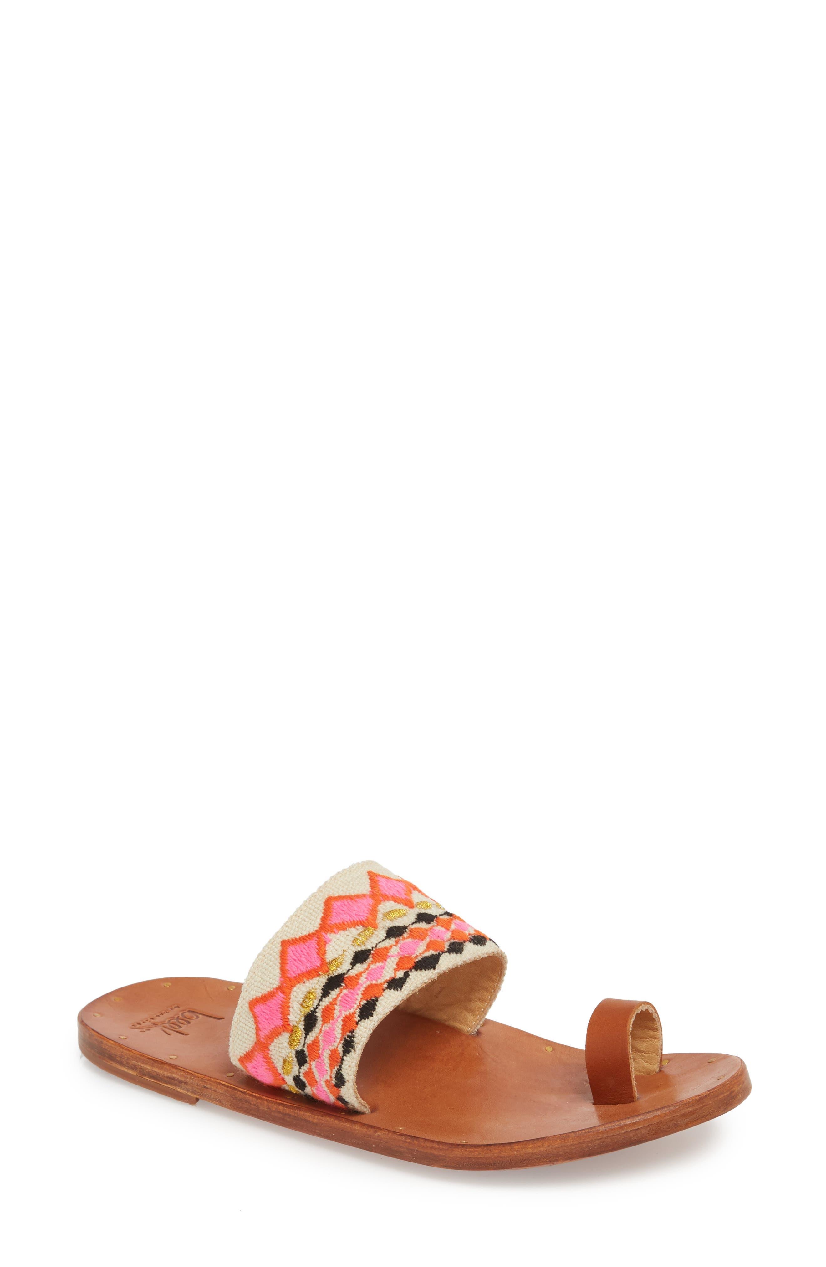 Dove Sandal,                             Main thumbnail 1, color,                             Fuschia Multi/ Tan