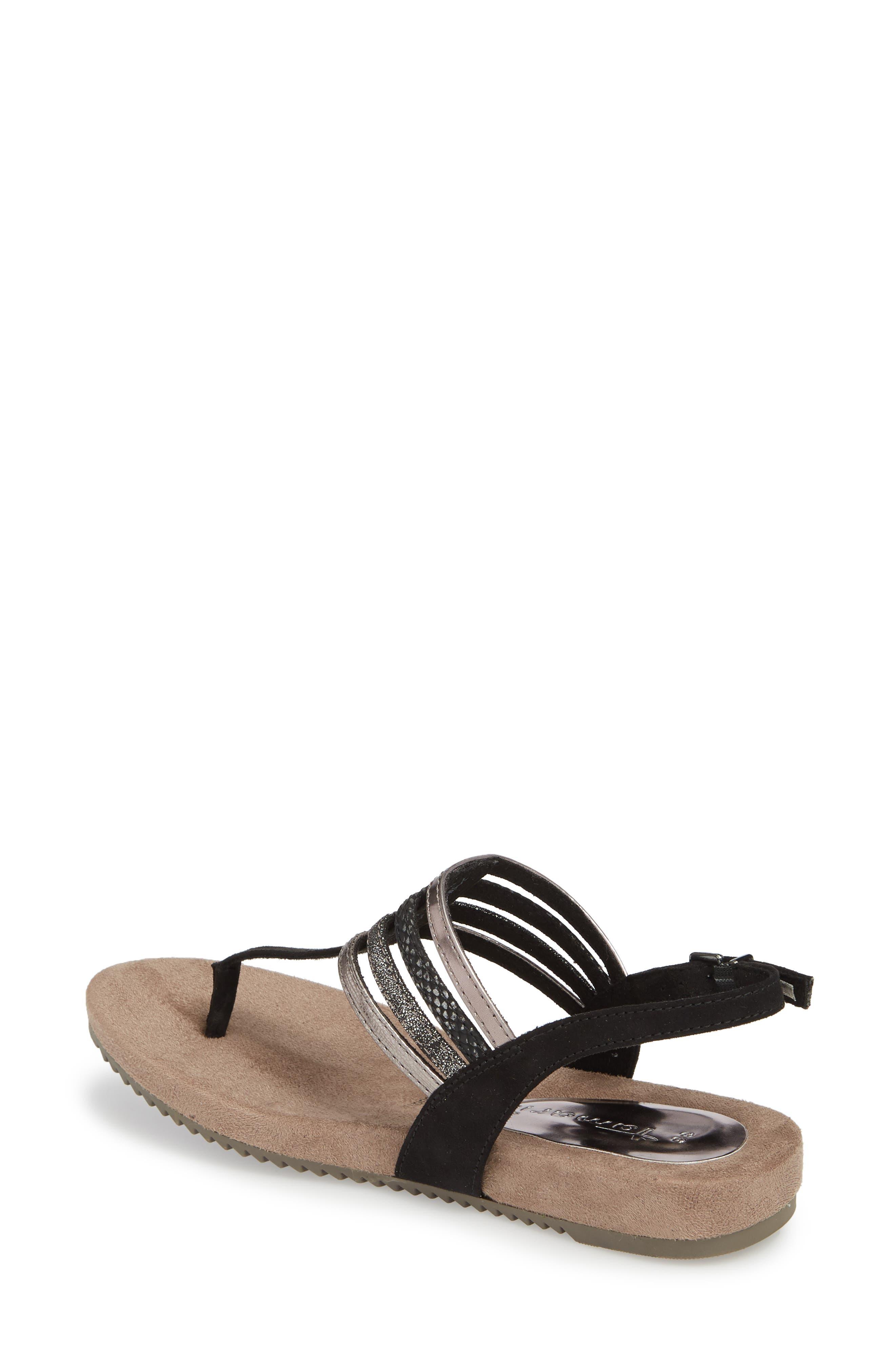 Locust Sandal,                             Alternate thumbnail 2, color,                             Black Fabric