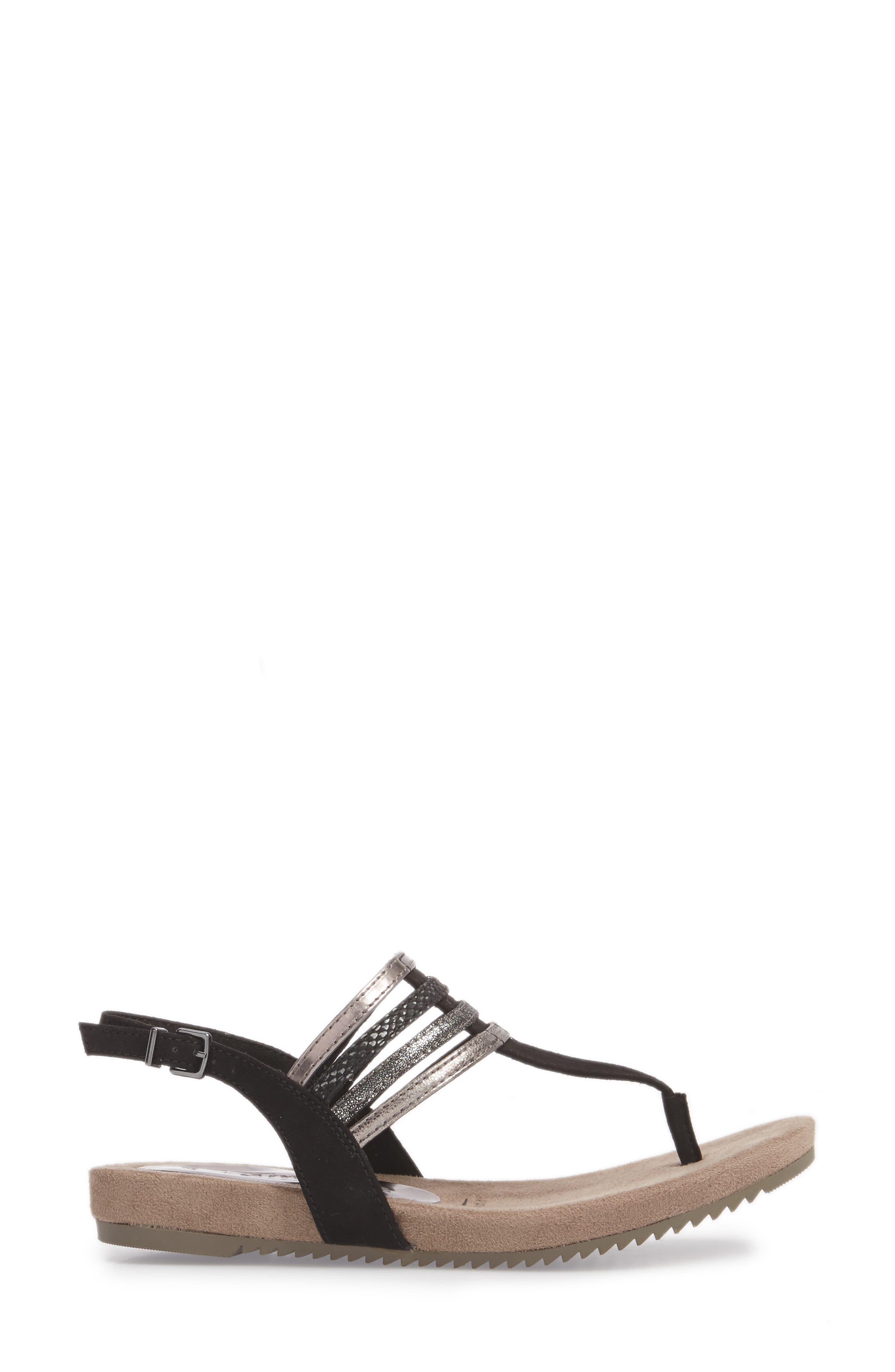 Locust Sandal,                             Alternate thumbnail 3, color,                             Black Fabric