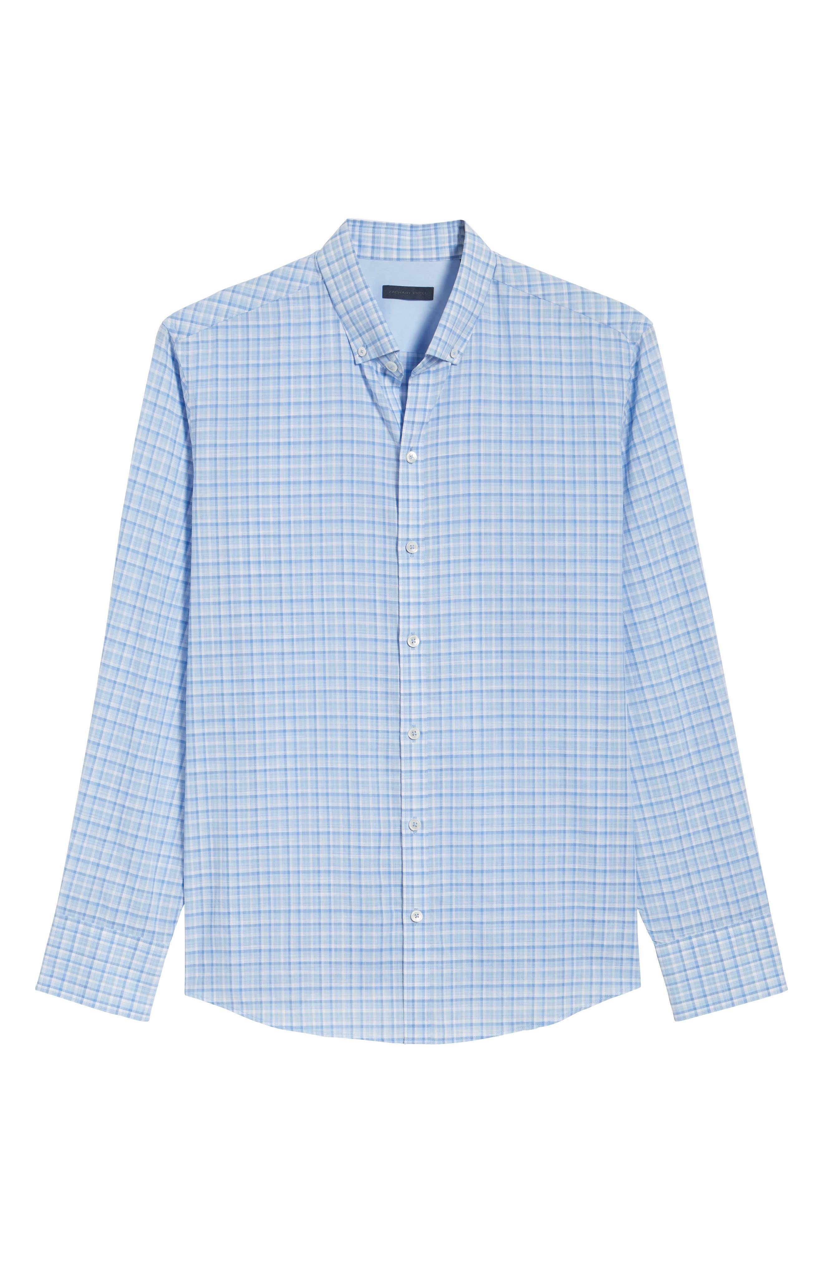 Jian Regular Fit Sport Shirt,                             Alternate thumbnail 6, color,                             Sky