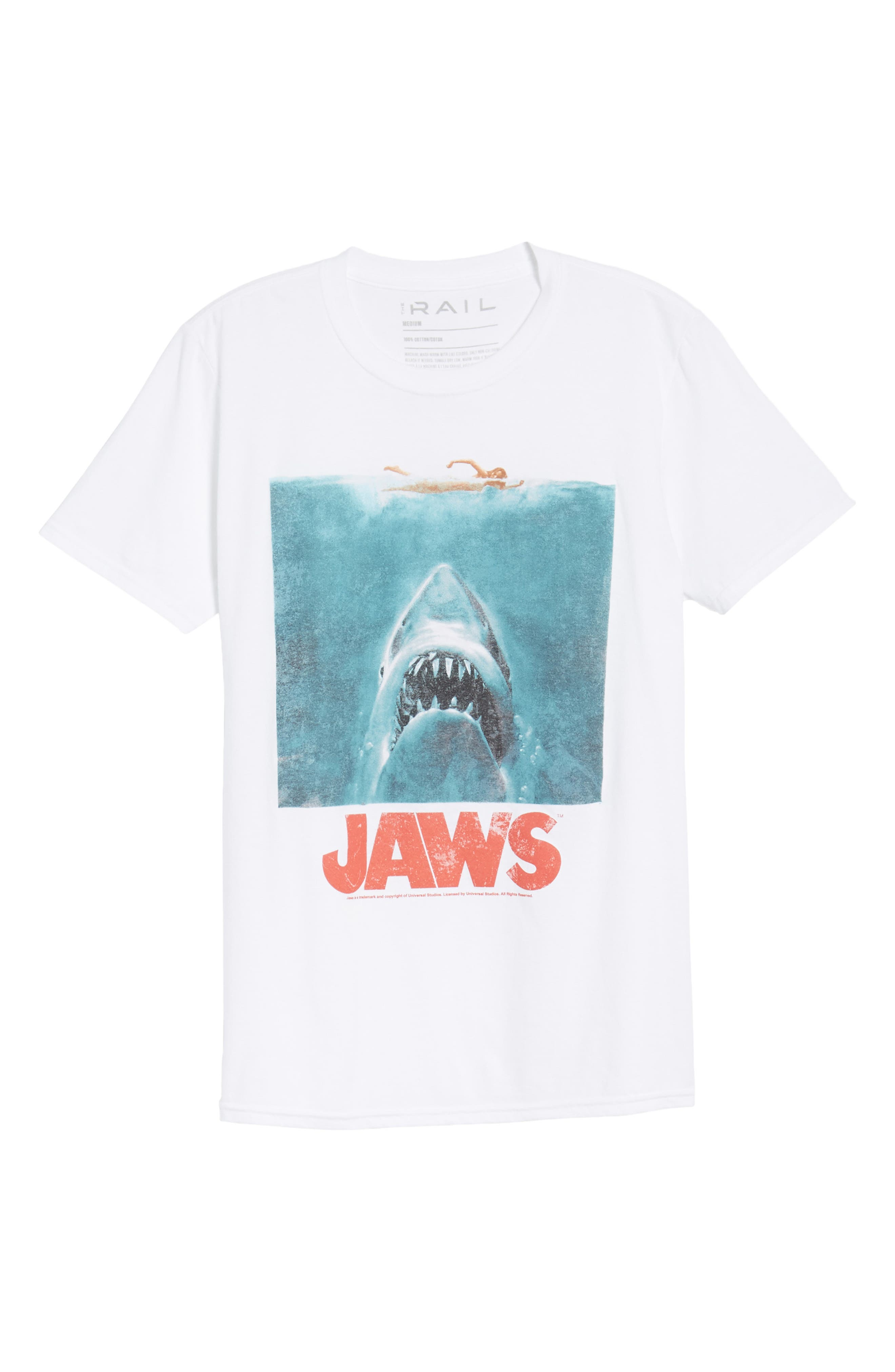 Jaws T-Shirt,                             Alternate thumbnail 5, color,                             White Jaws