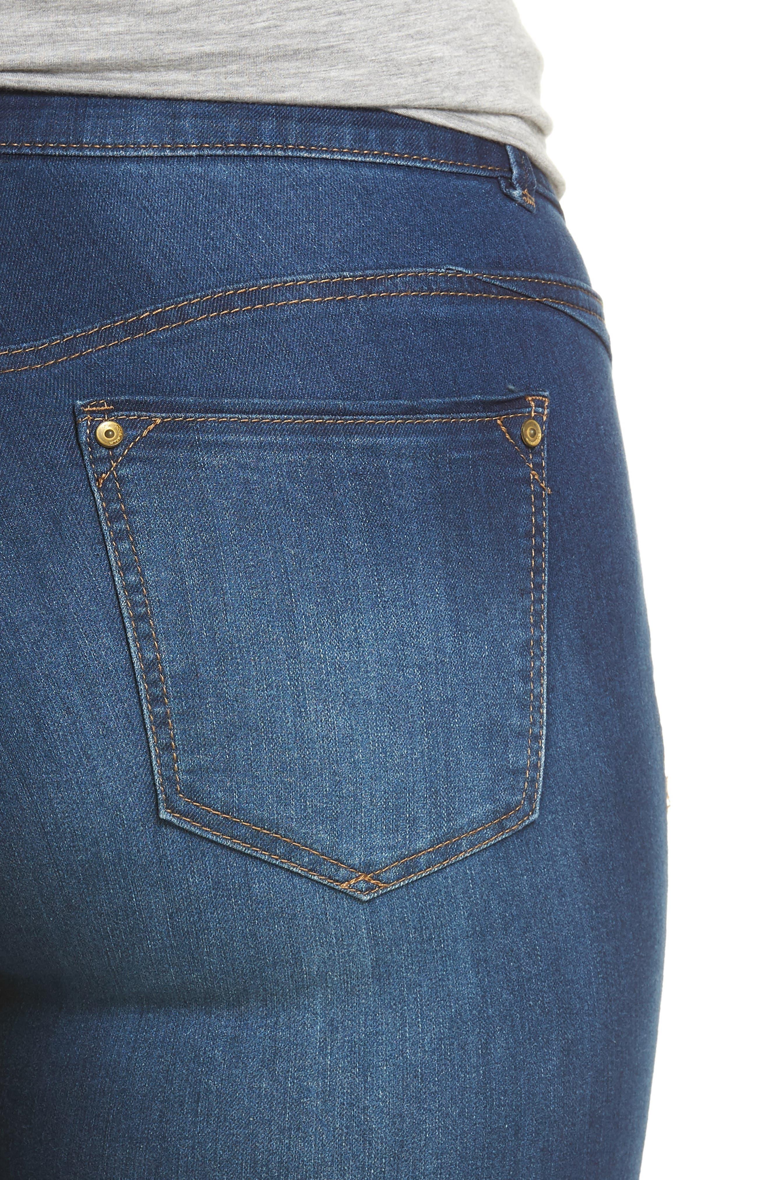 Ab-solution Ankle Skimmer Jeans,                             Alternate thumbnail 4, color,                             Blue