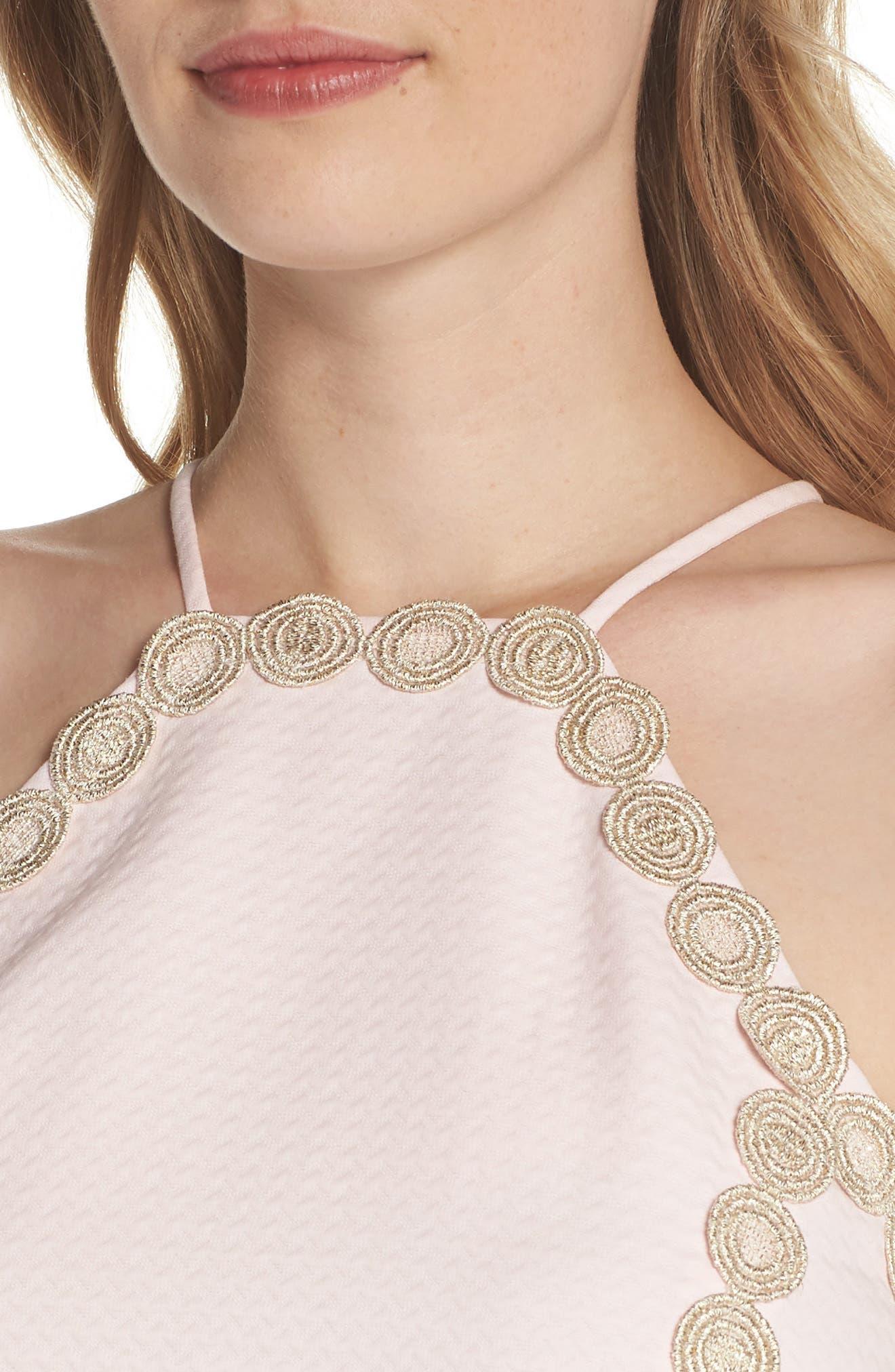 Pearl Shift Dress,                             Alternate thumbnail 4, color,                             Paradise Tint