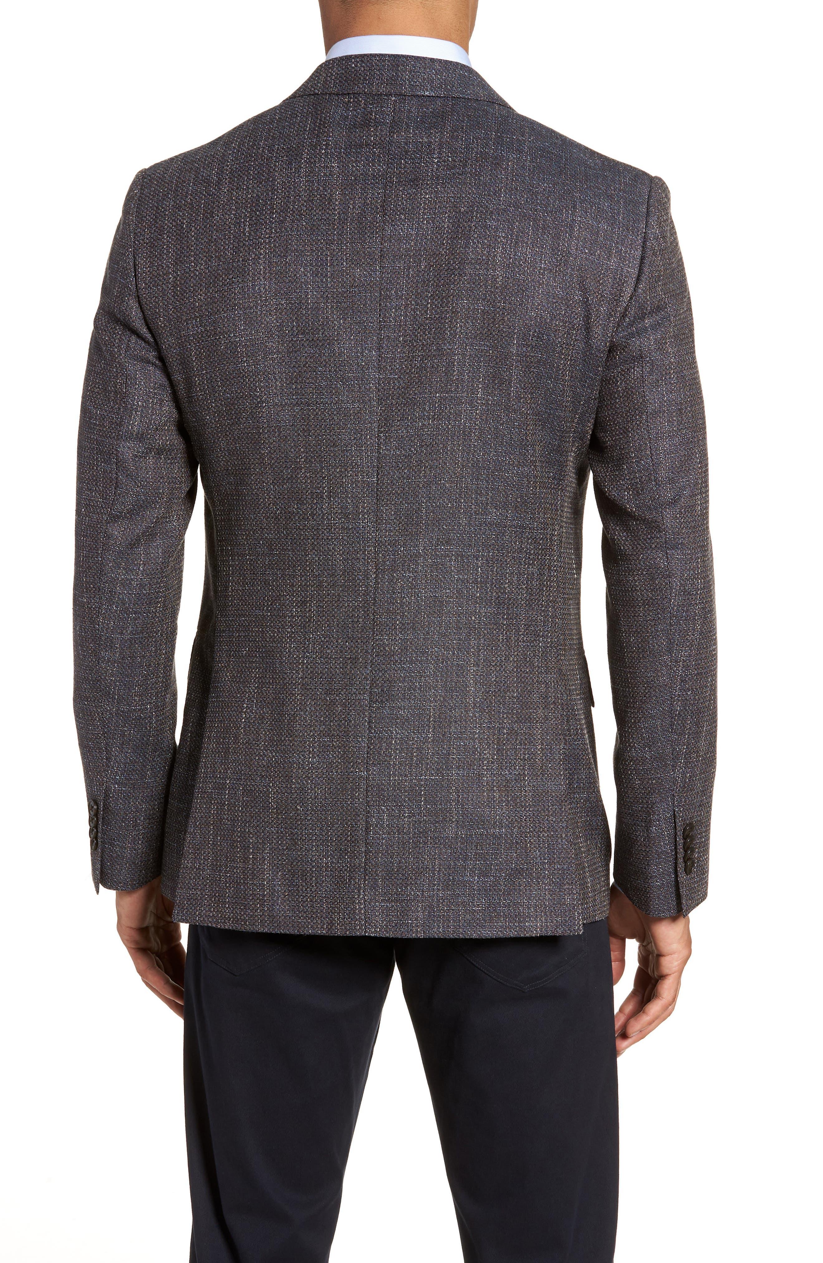 Five Bridges Slim Fit Tweed Sport Coat,                             Alternate thumbnail 2, color,                             Sepia