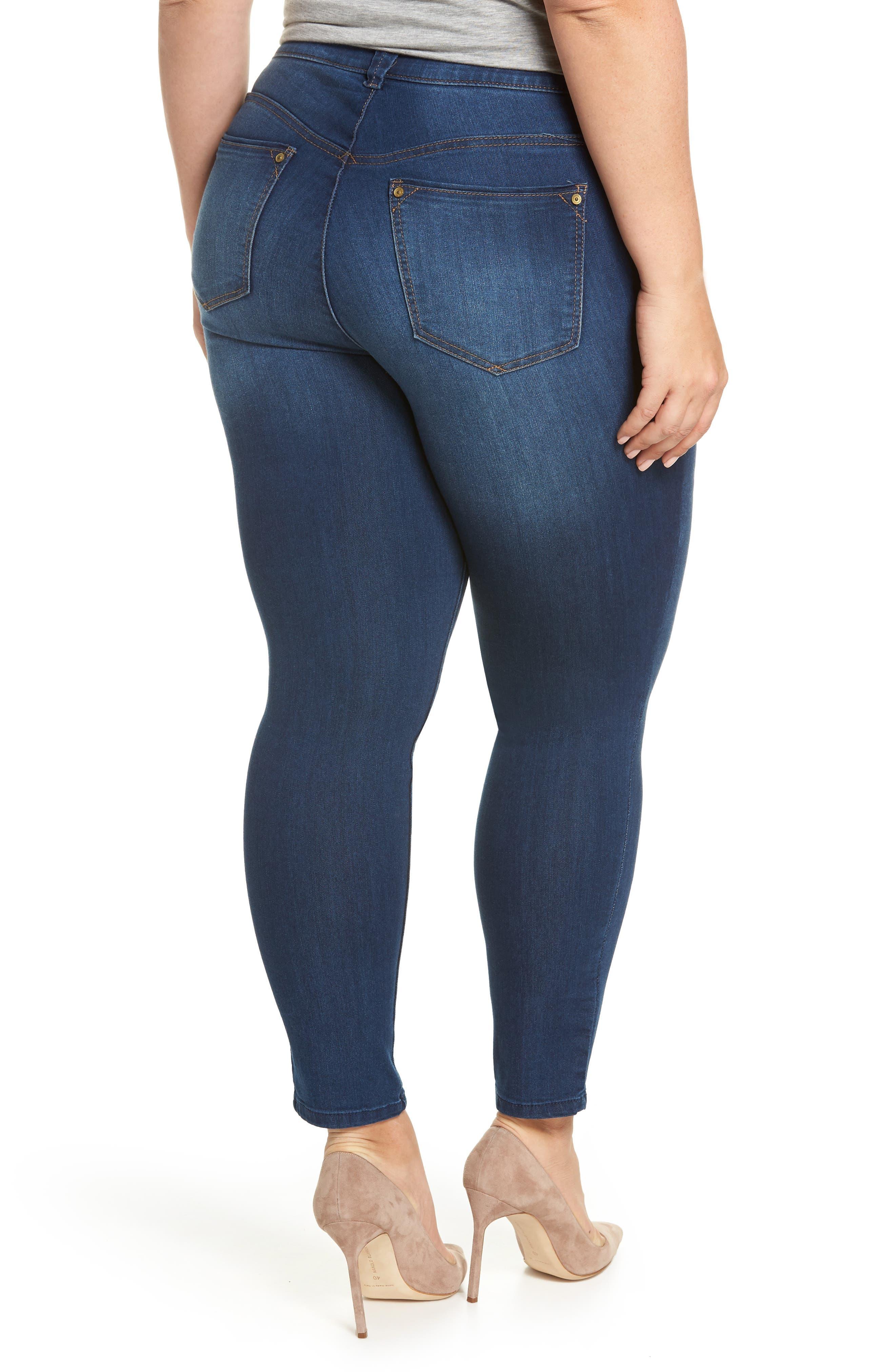 Ab-solution Ankle Skimmer Jeans,                             Alternate thumbnail 2, color,                             Blue