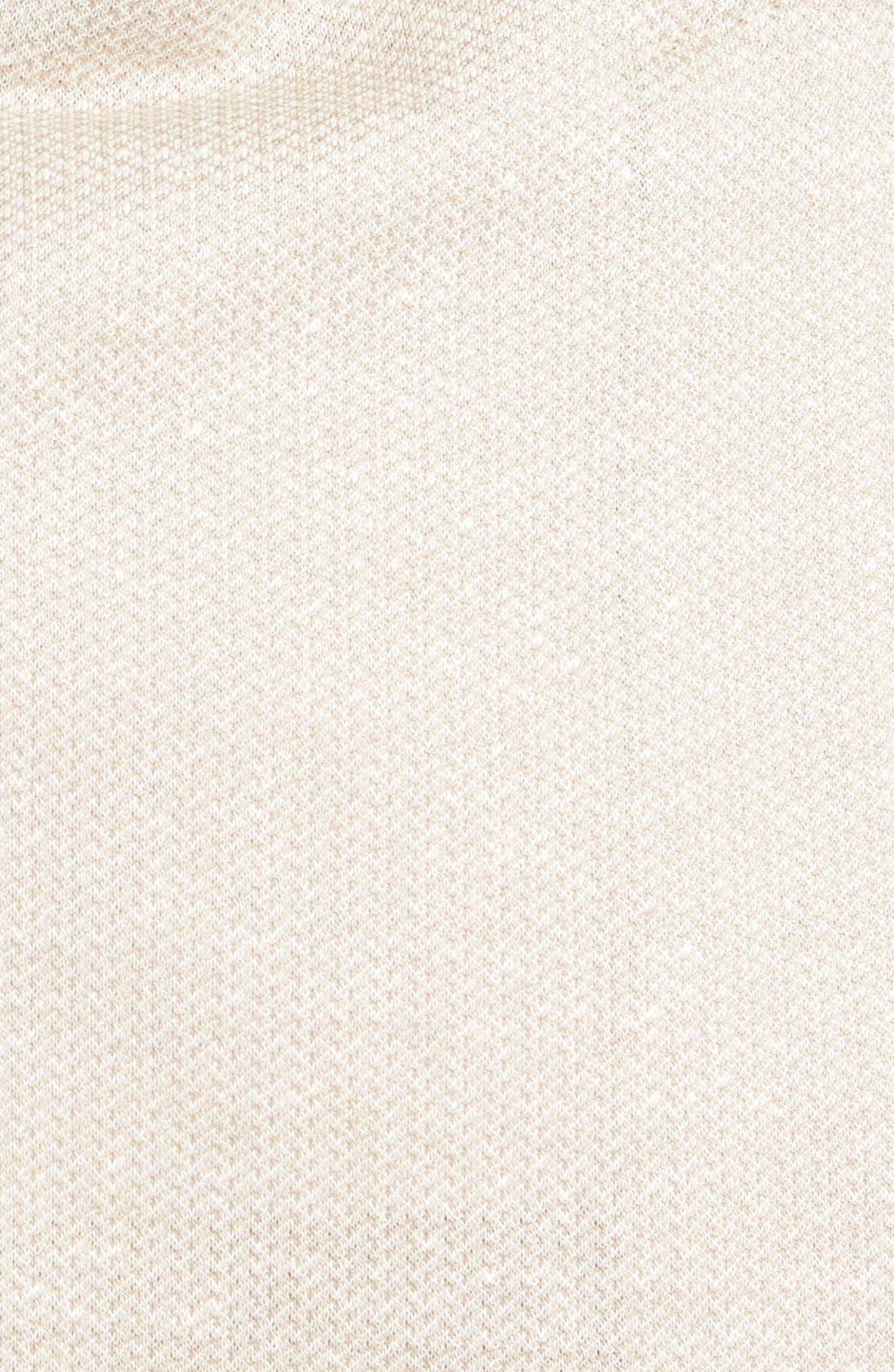 Jersey Trim Fit Linen & Cotton Blazer,                             Alternate thumbnail 5, color,                             Sand
