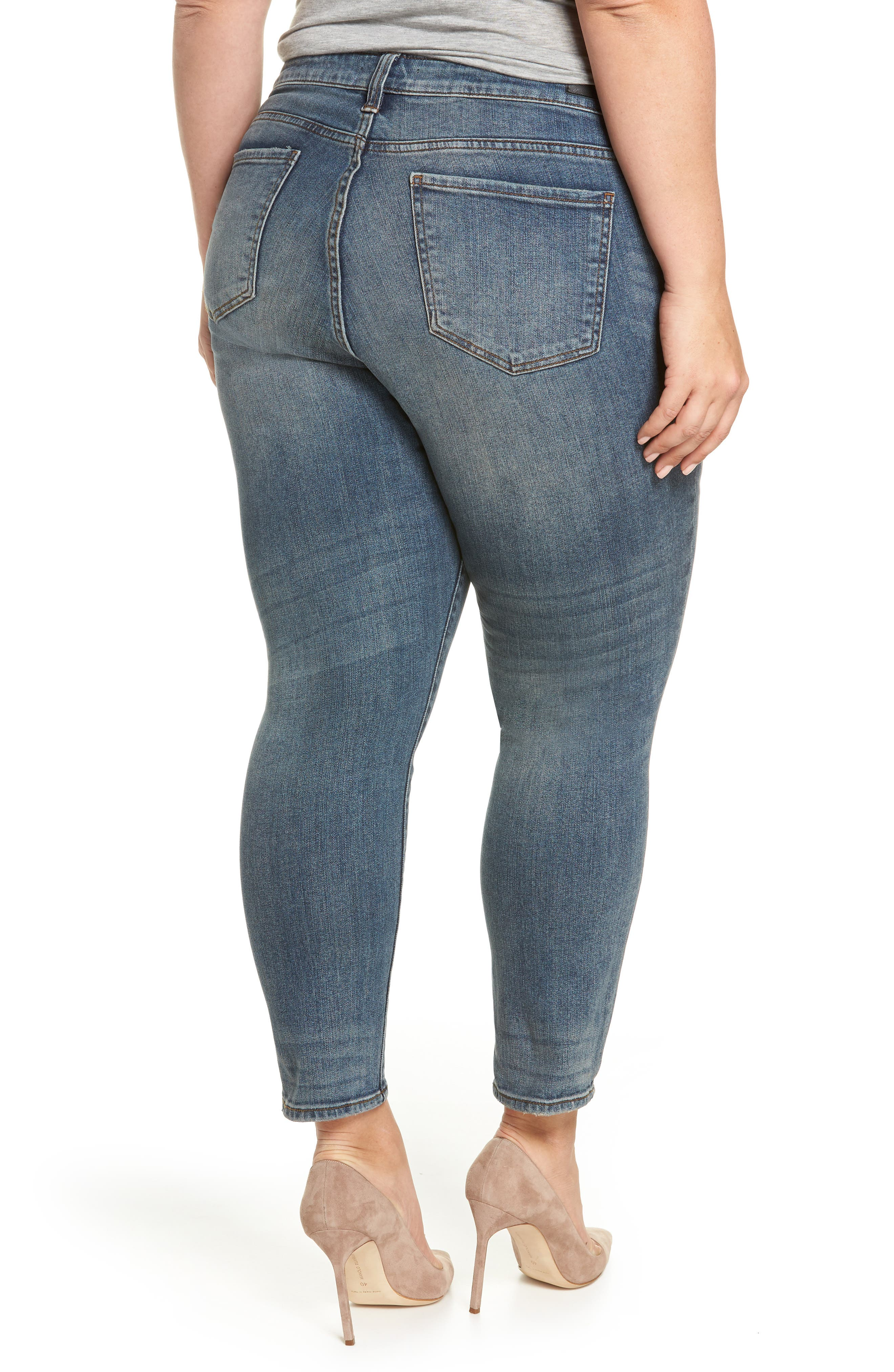 Catherine Ankle Straight Leg Jeans,                             Alternate thumbnail 2, color,                             Increase