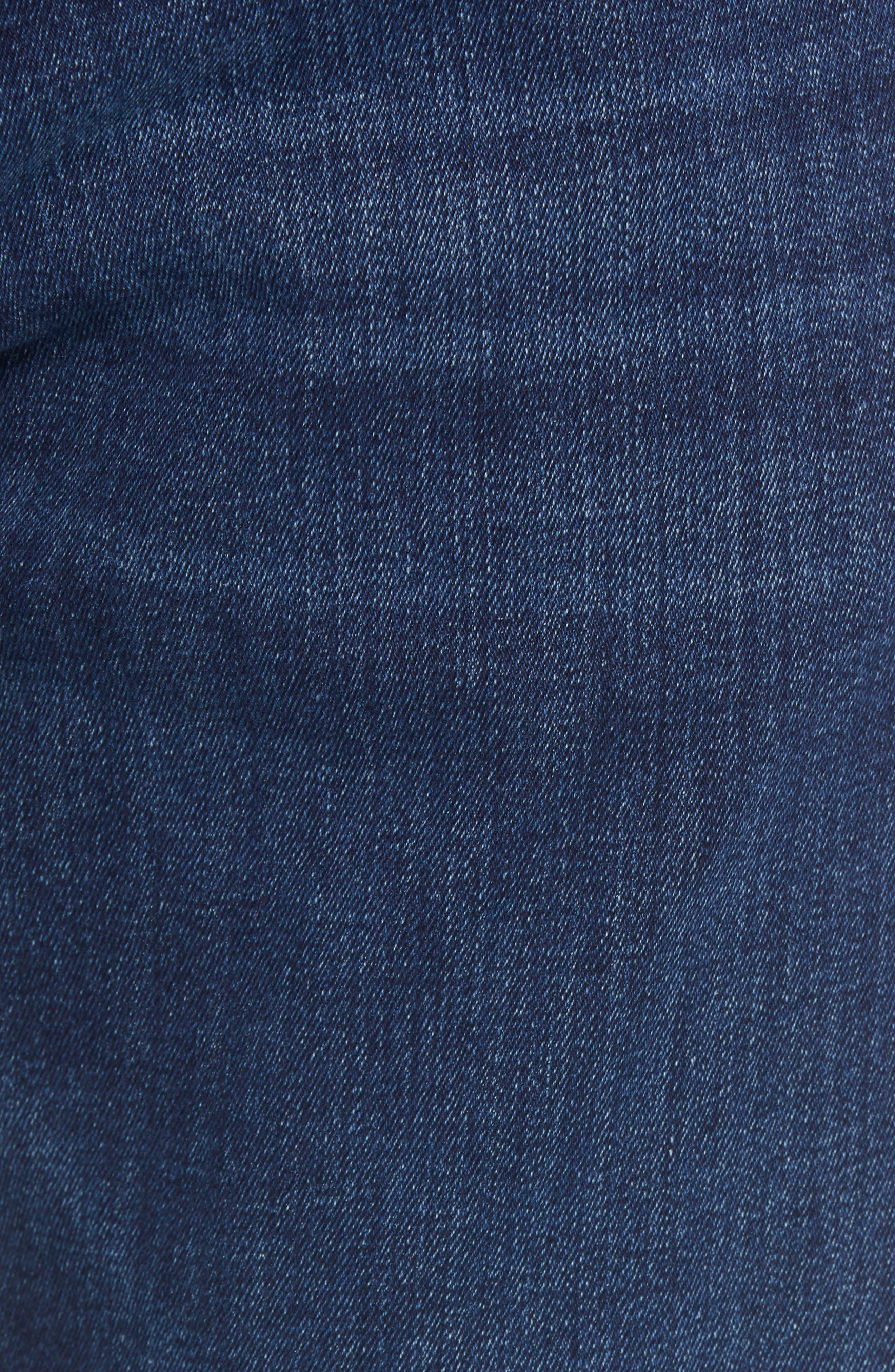 Zach Straight Leg Jeans,                             Alternate thumbnail 6, color,                             Dark Blue Williamsburg