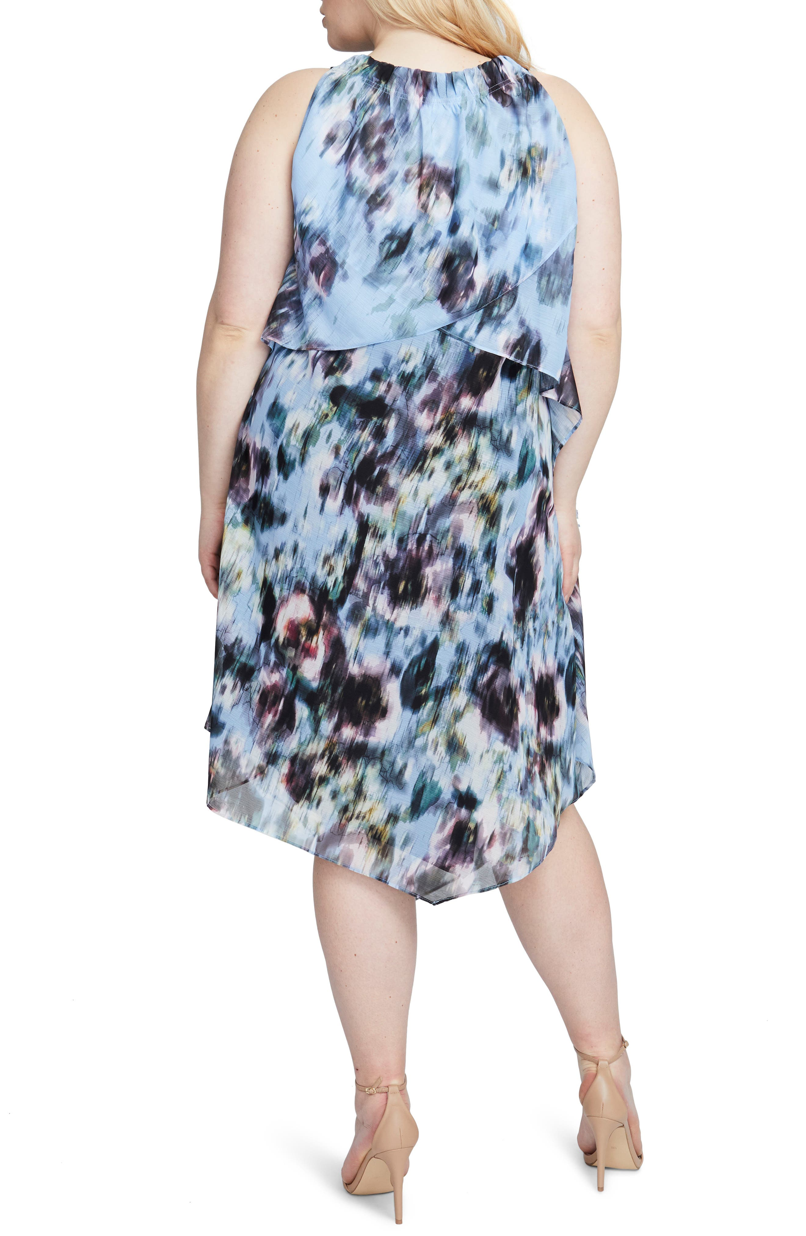 Floral Halter Scarf Dress,                             Alternate thumbnail 2, color,                             Multi Combo