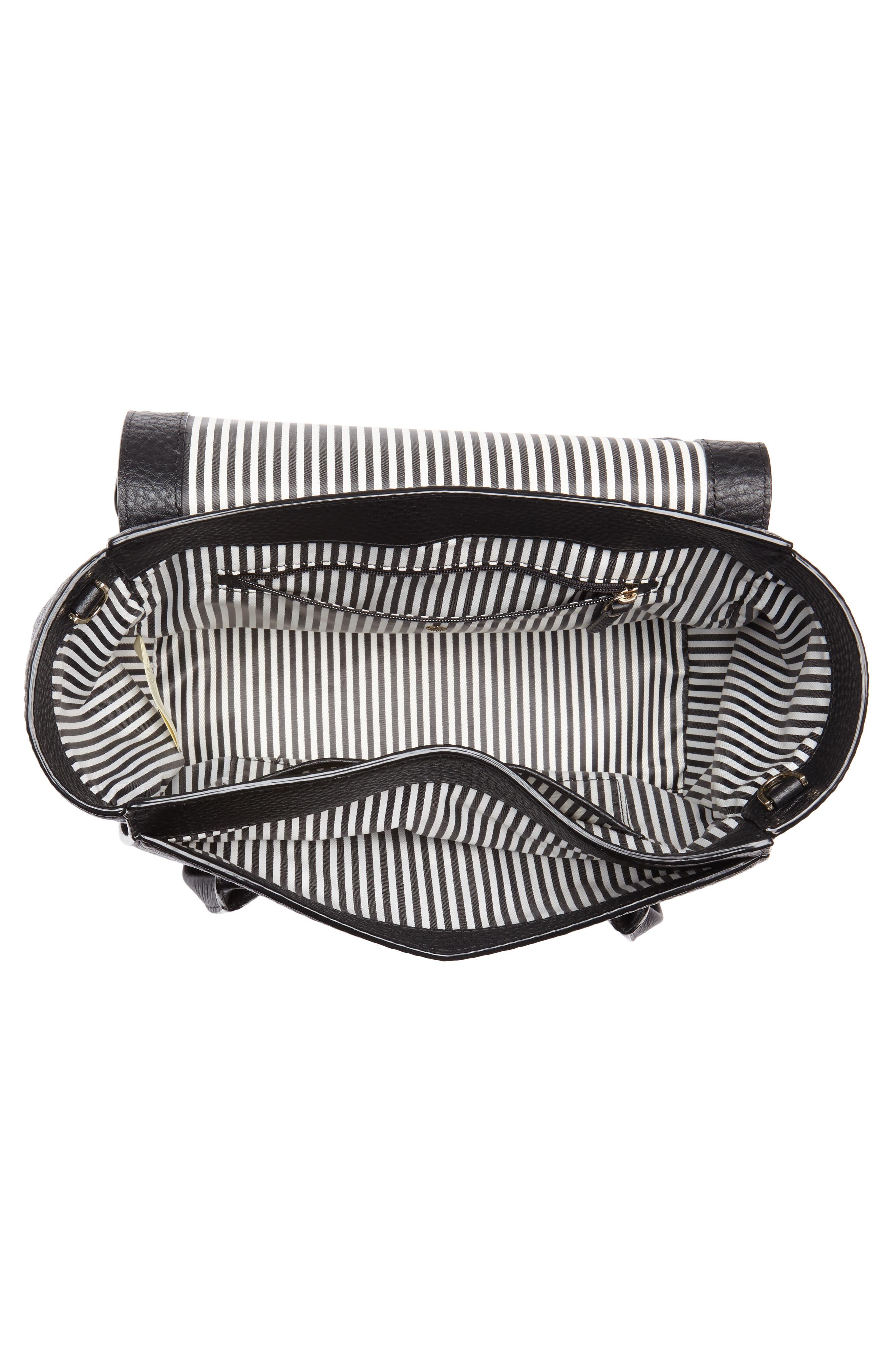 carlyle street - alexa leather satchel,                             Alternate thumbnail 4, color,                             Black
