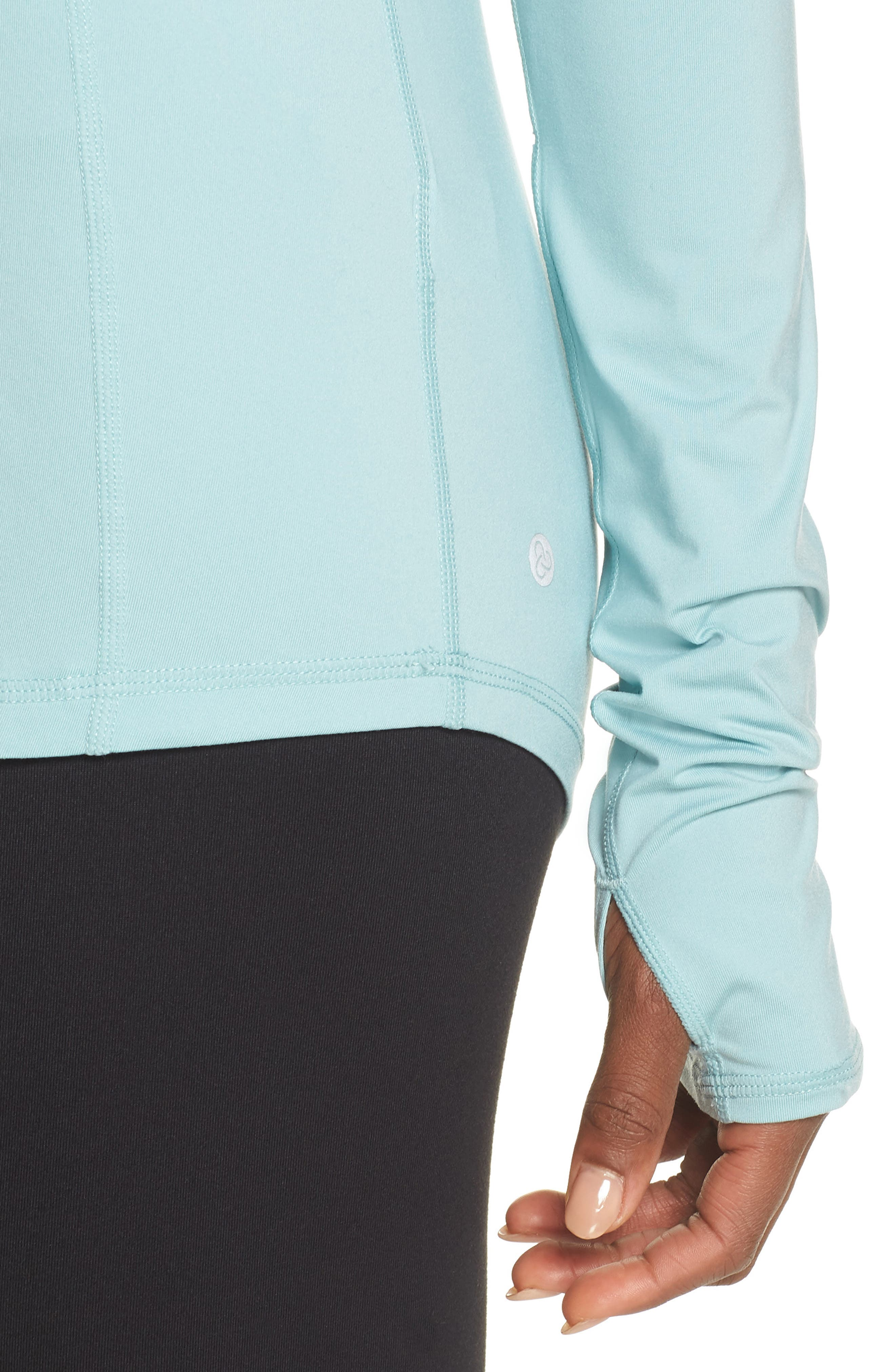 Technique Hooded Pullover,                             Alternate thumbnail 4, color,                             Teal Aquifer