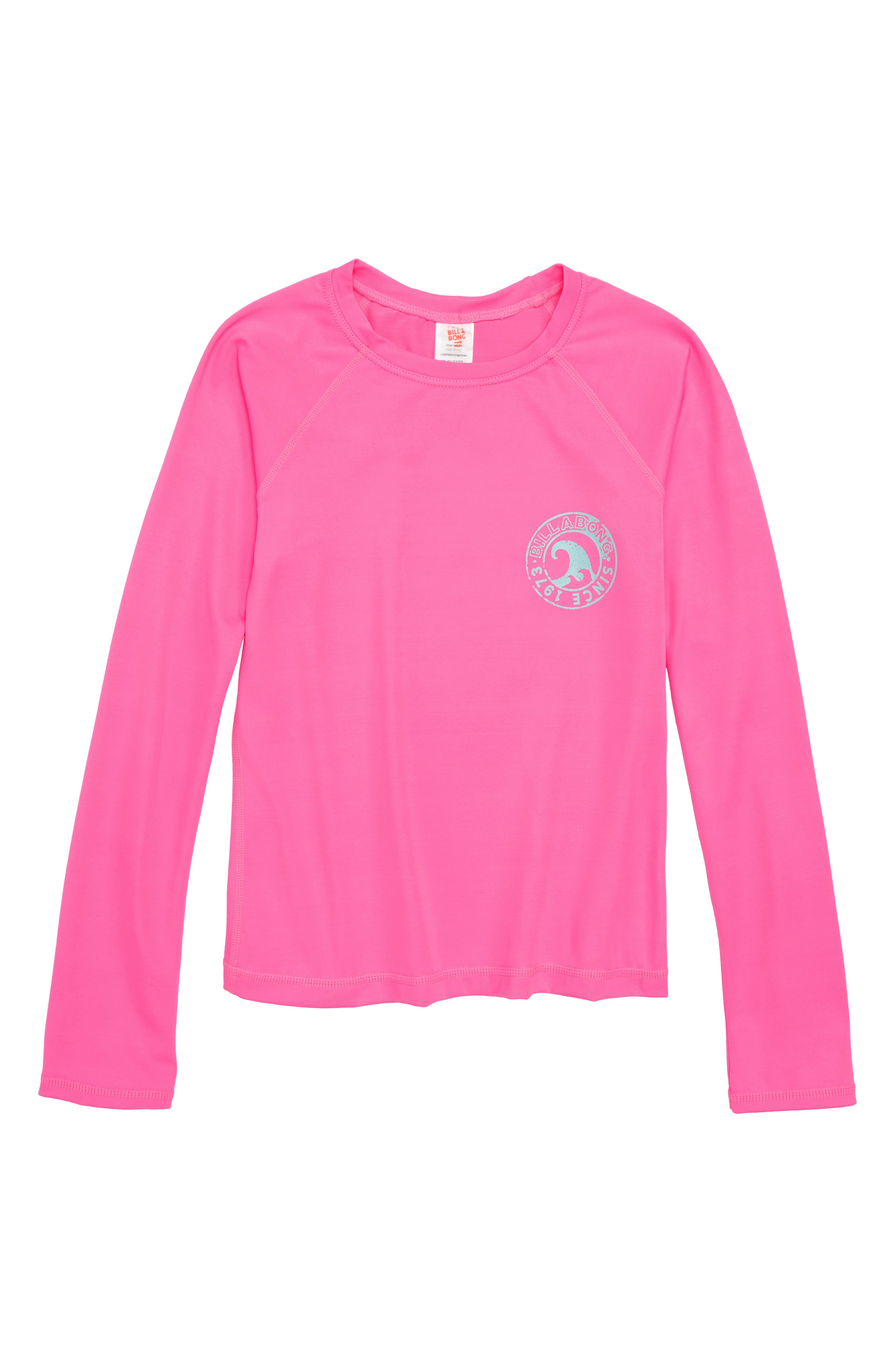 Sol Searcher Long Sleeve Rashguard,                         Main,                         color, Tahiti Pink