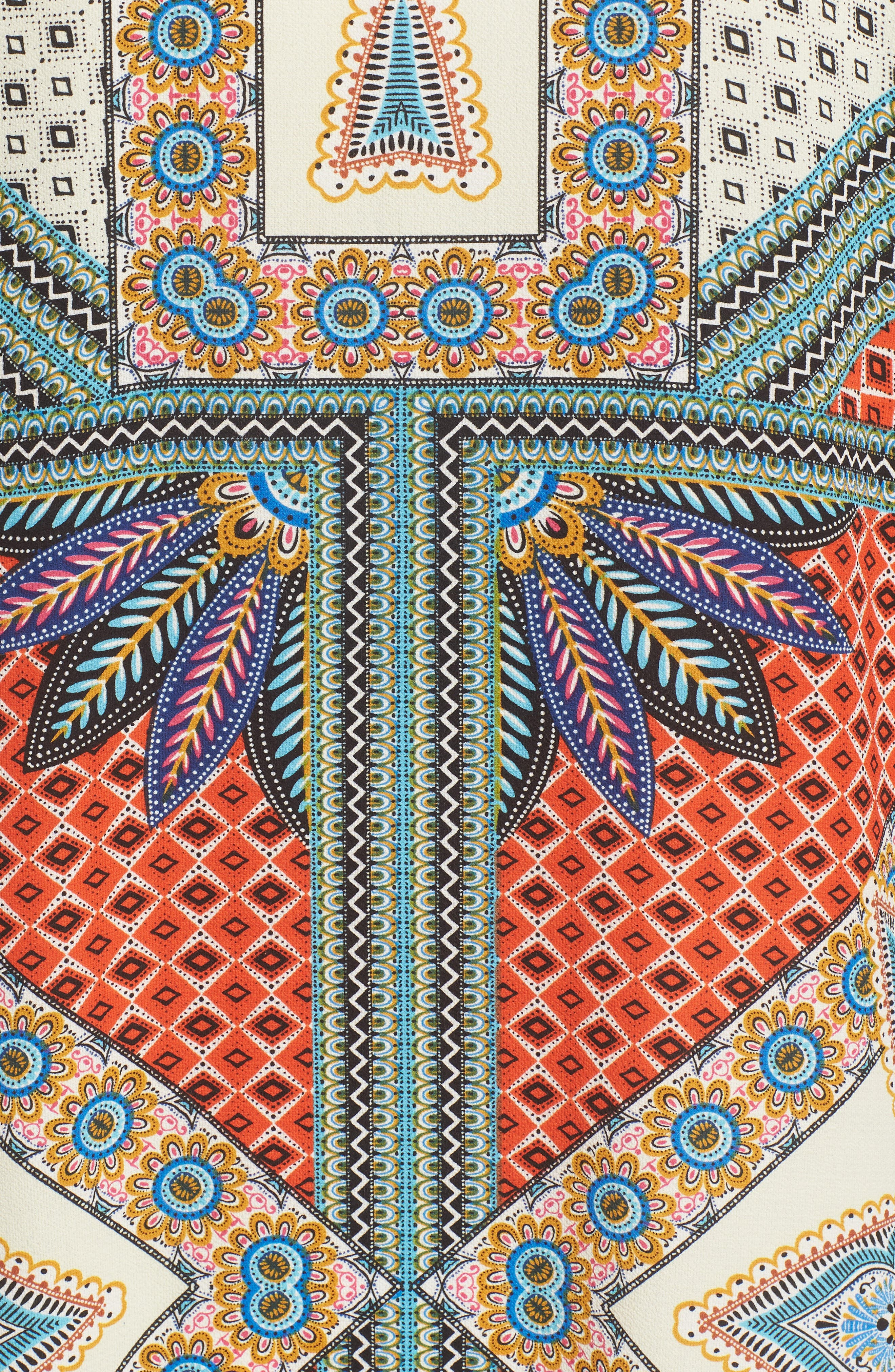 Scarf Print Kimono Jacket,                             Alternate thumbnail 6, color,                             Multi