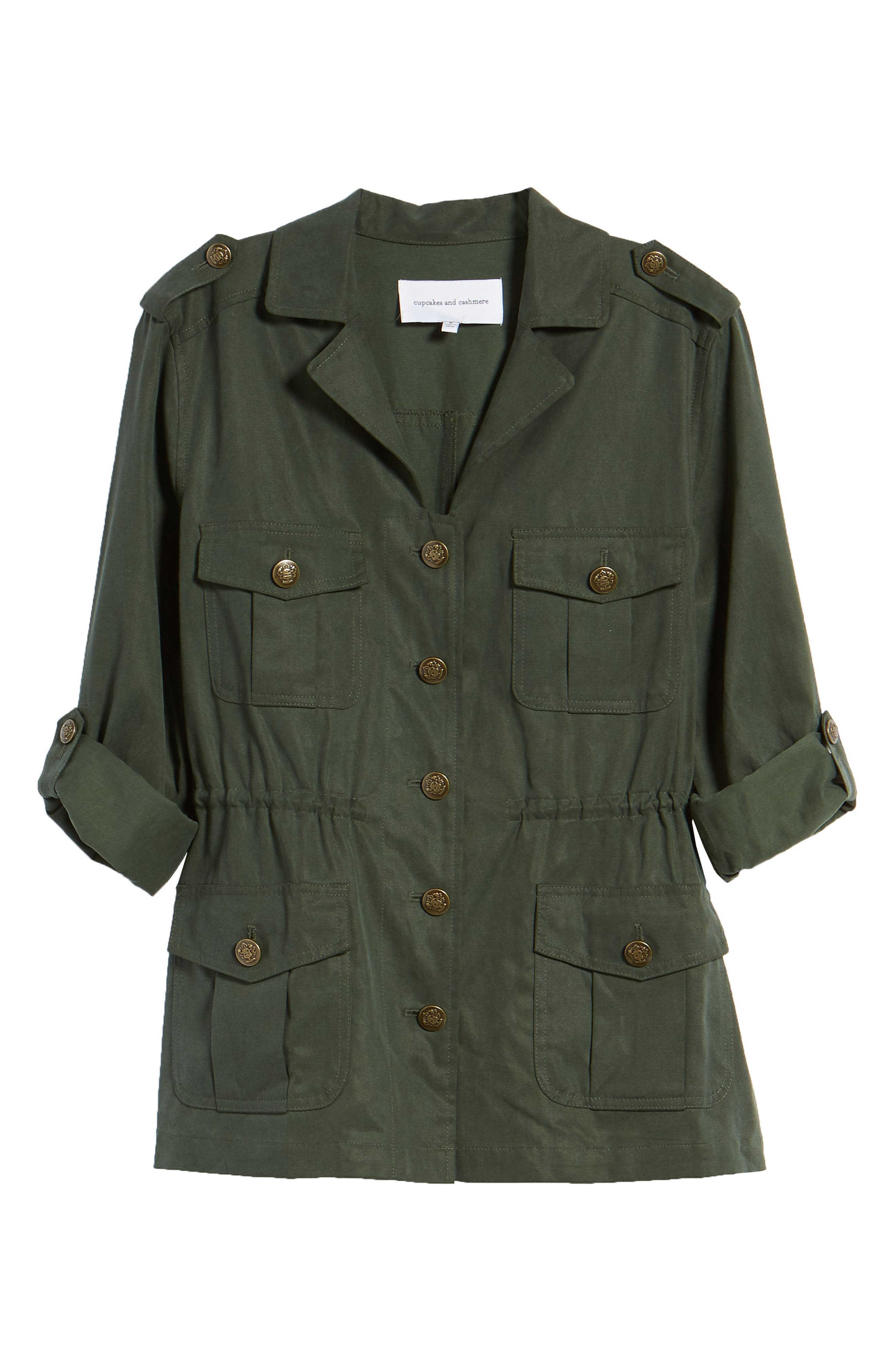 Brannen Military Jacket,                             Alternate thumbnail 7, color,                             Army