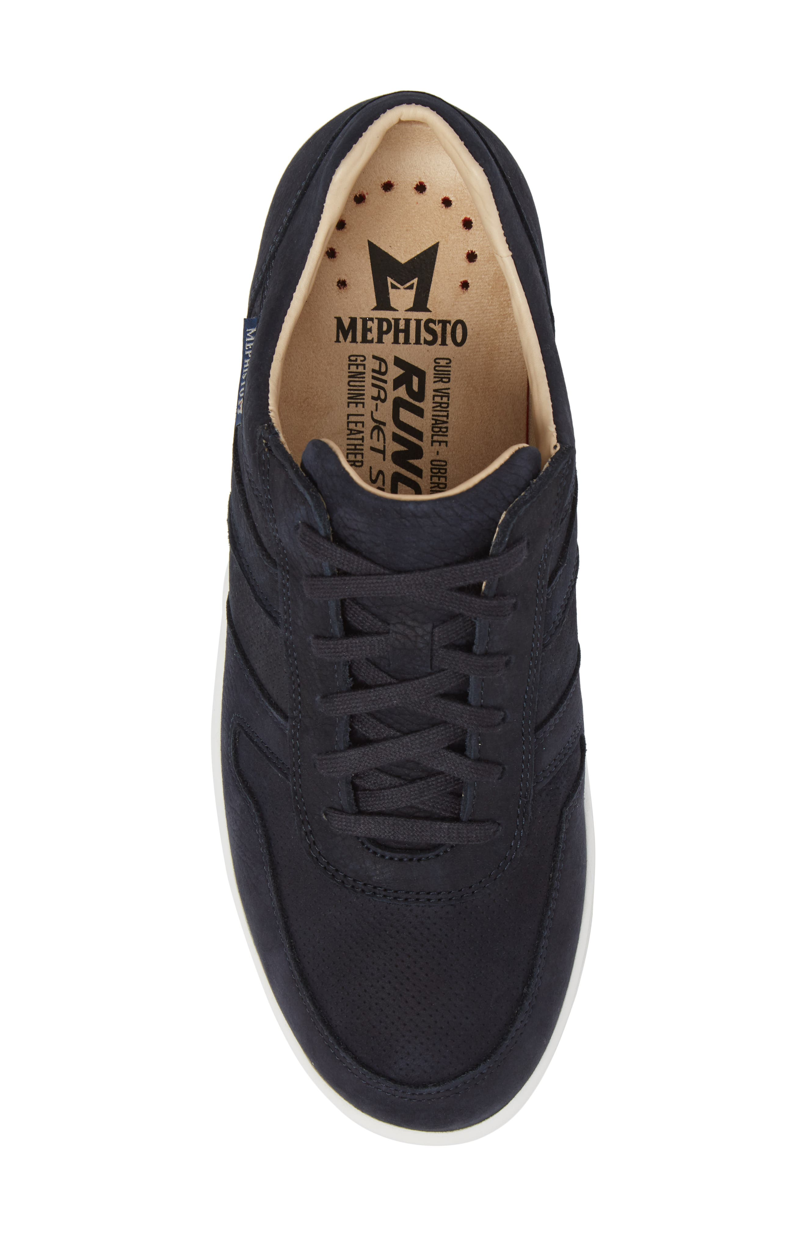 Vito Perforated Sneaker,                             Alternate thumbnail 5, color,                             Navy