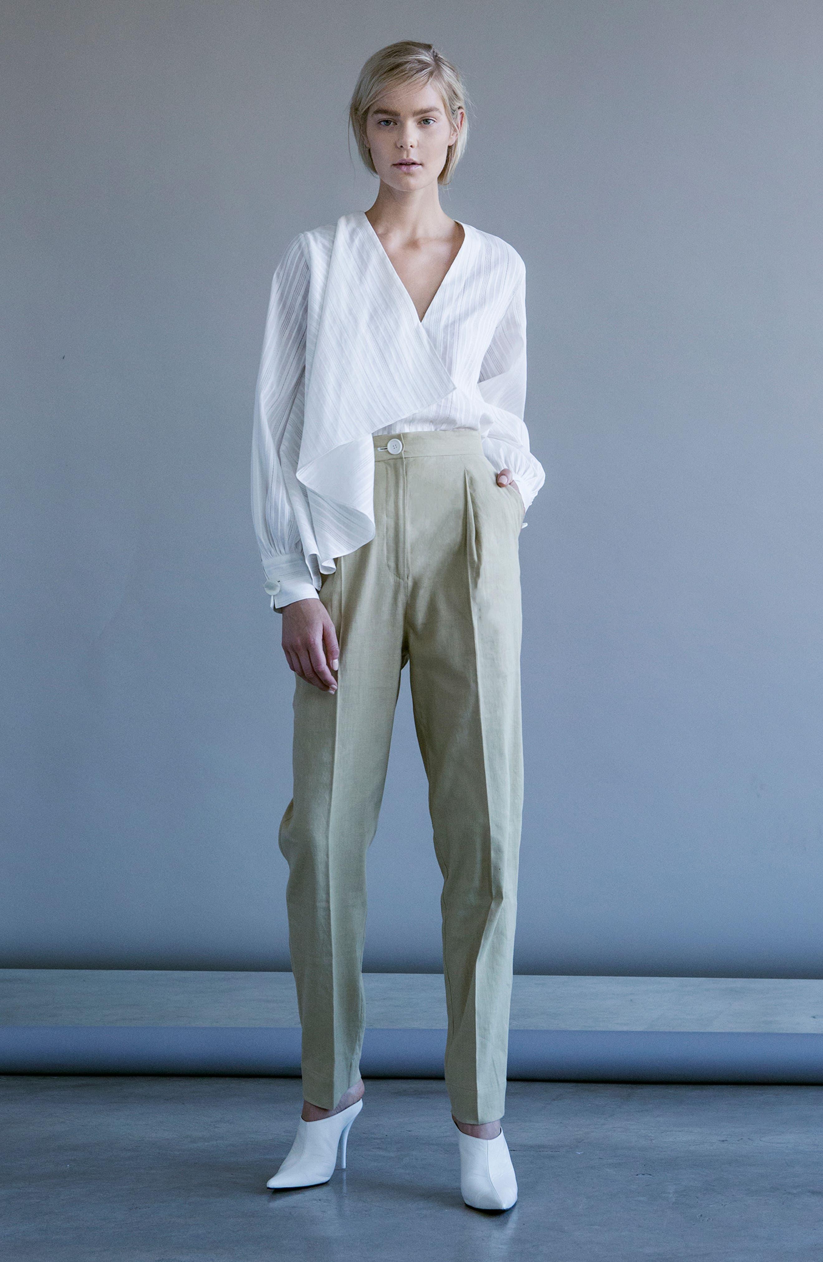 Alternate Image 2  - Robert Rodriguez Stripe Drape Front Blouse