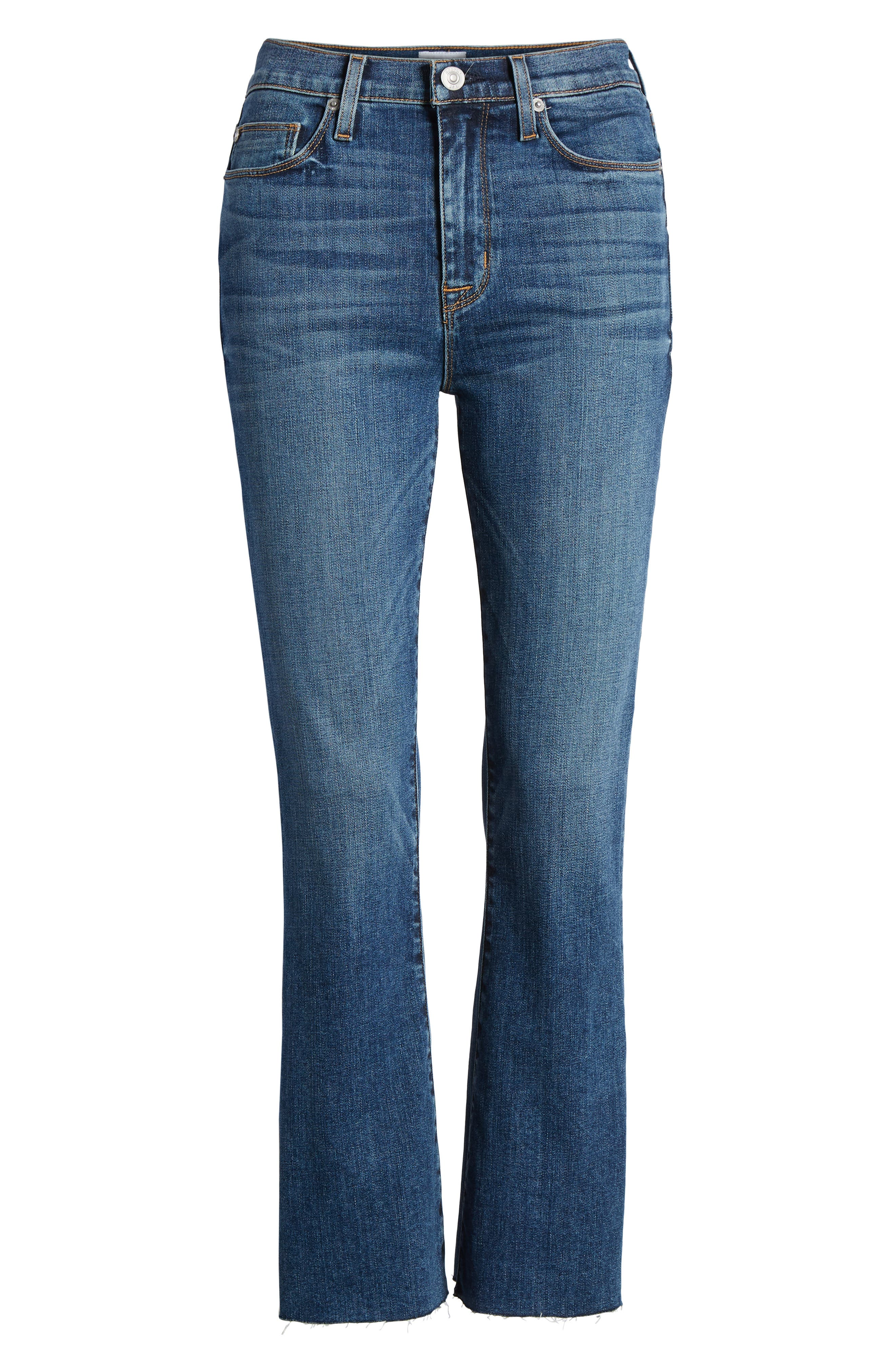 Holly High Waist Crop Flare Jeans,                             Alternate thumbnail 7, color,                             Loss Control