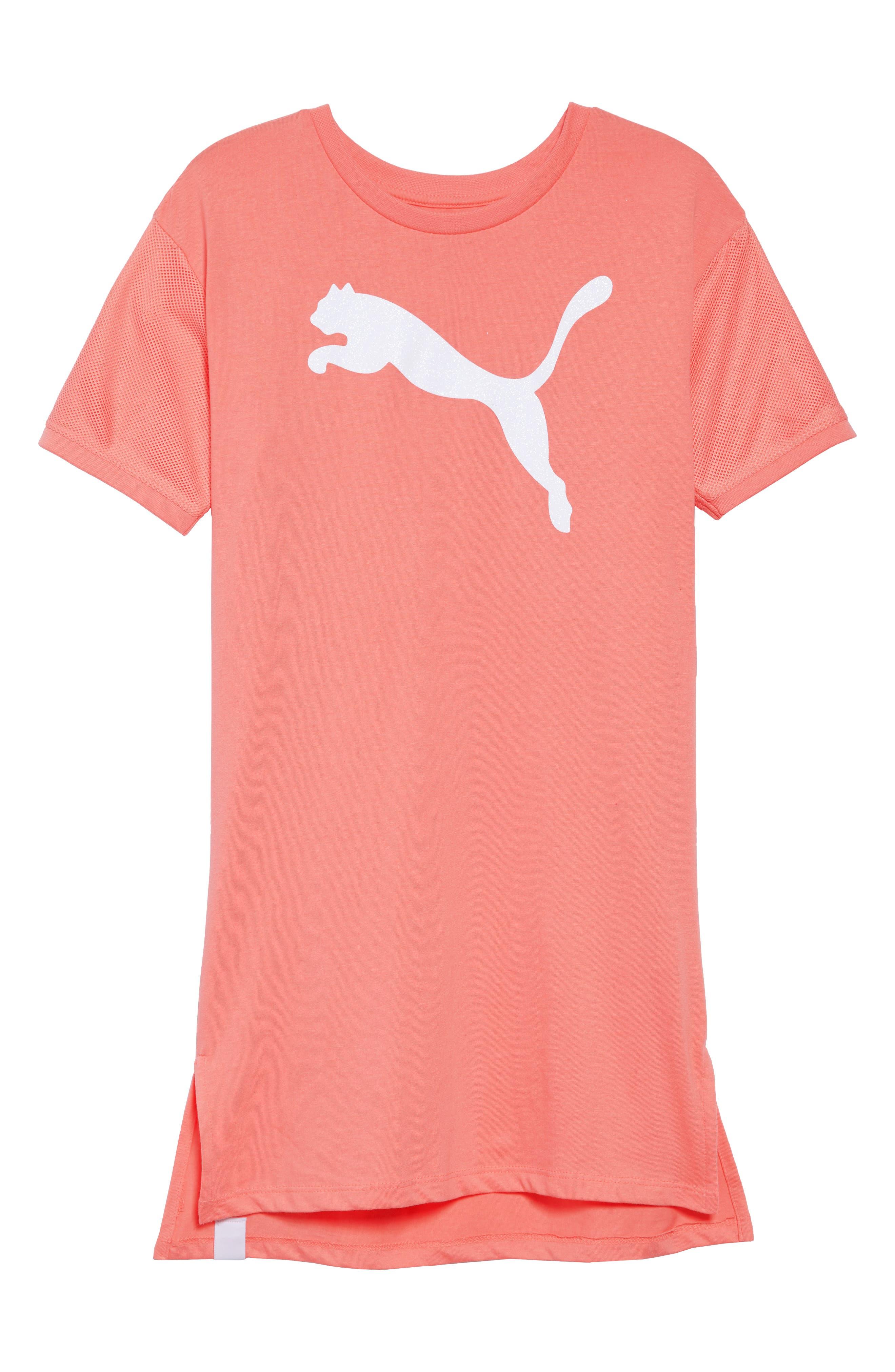 PUMA Logo T-Shirt Dress (Big Girls)