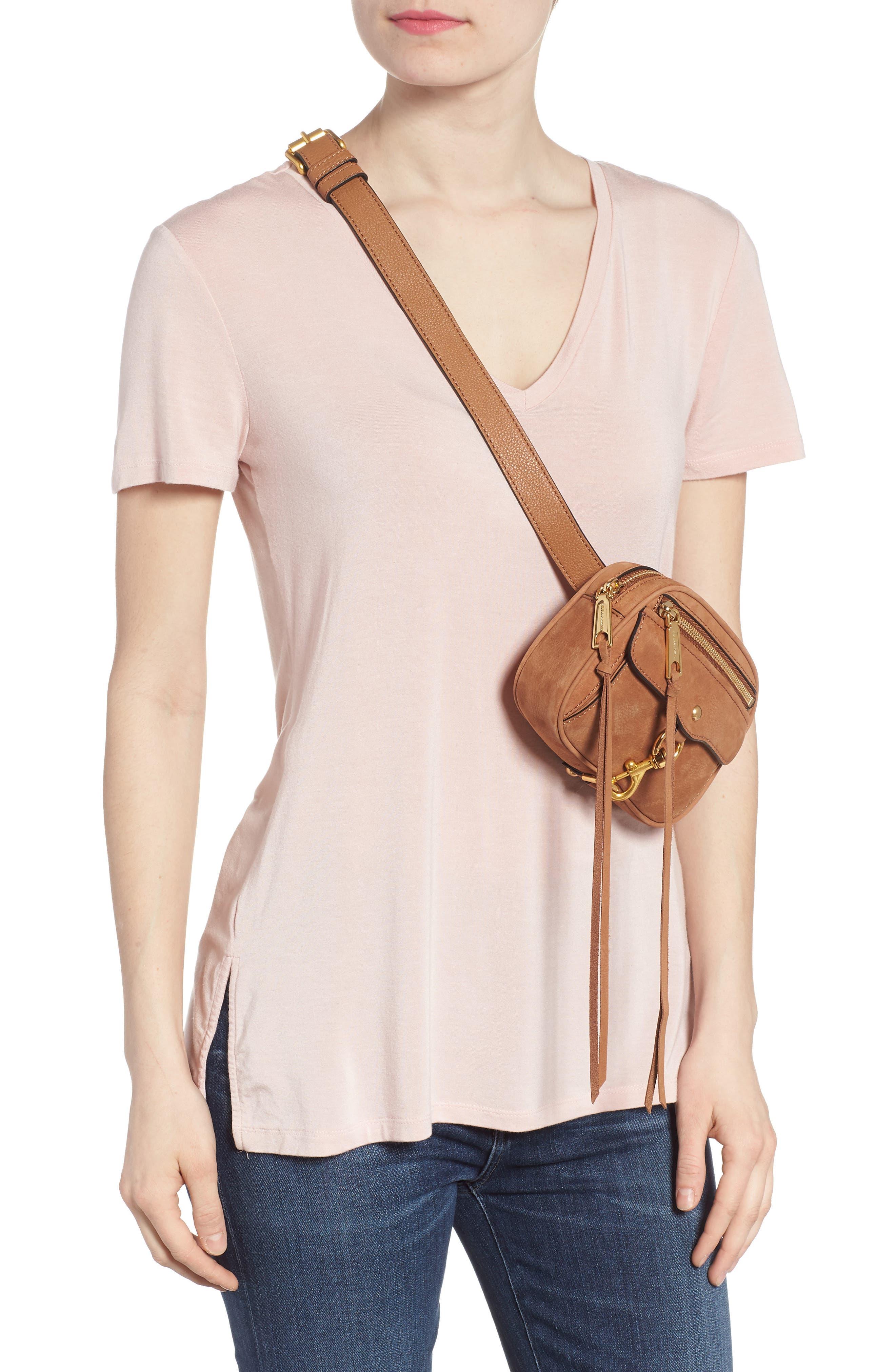 Blythe Leather Belt Bag,                             Alternate thumbnail 2, color,                             Almond