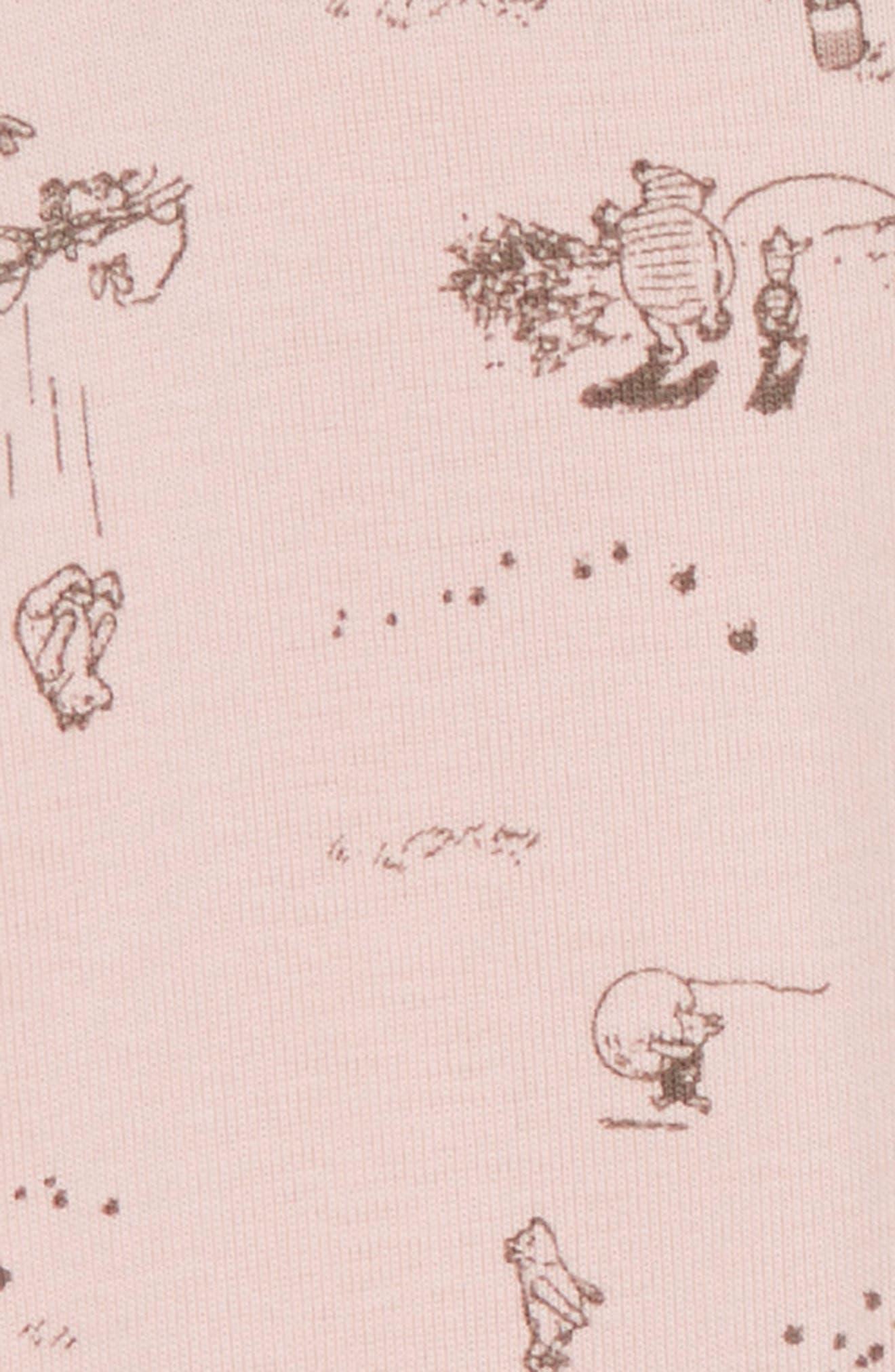 x Disney<sup>®</sup> Winnie the Pooh Organic Cotton Leggings,                             Alternate thumbnail 2, color,                             Powder