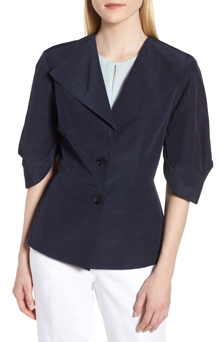 Pleat Sleeve Blazer