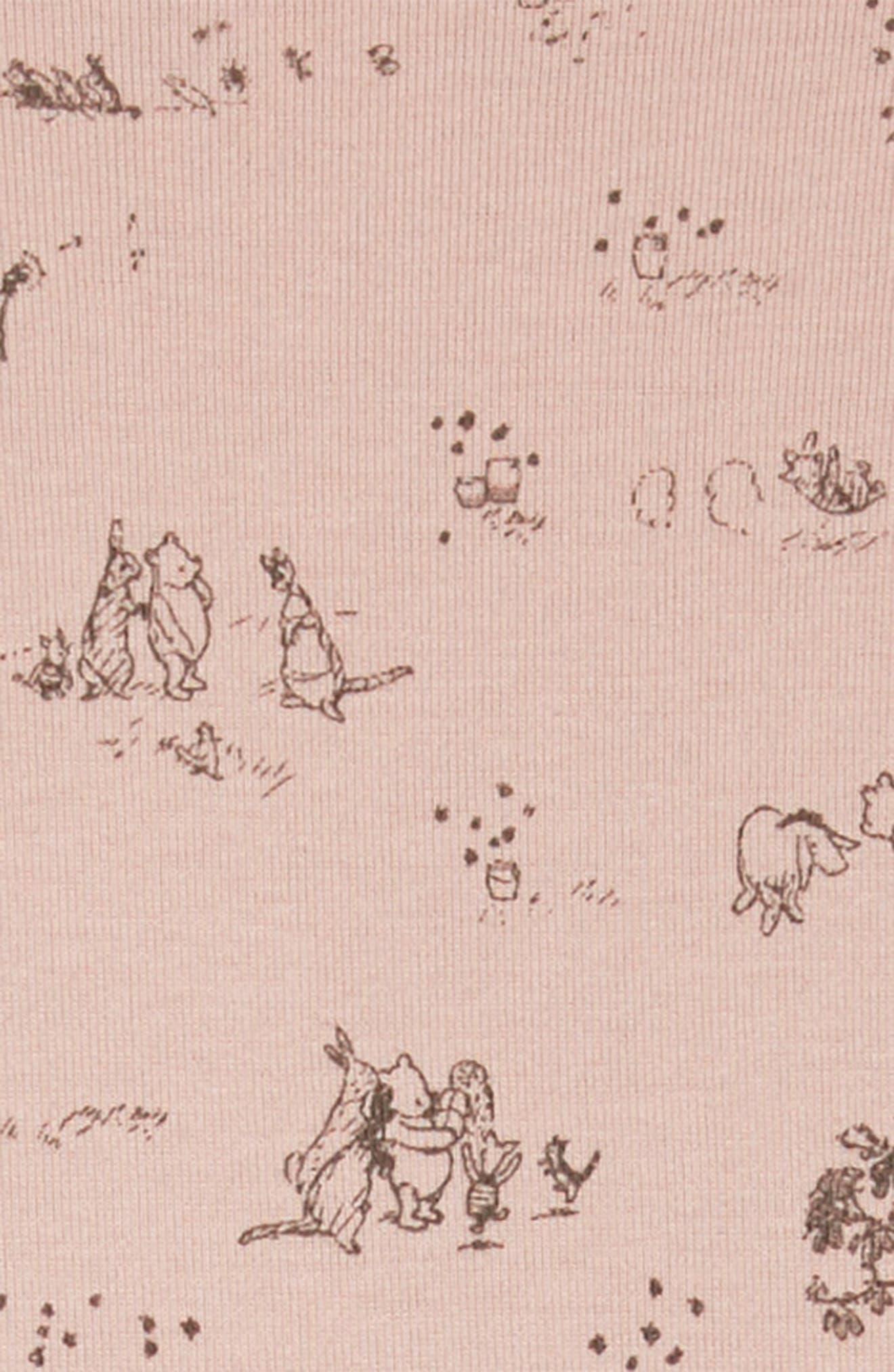 x Disney<sup>®</sup> Winnie the Pooh Print Dress,                             Alternate thumbnail 3, color,                             Powder