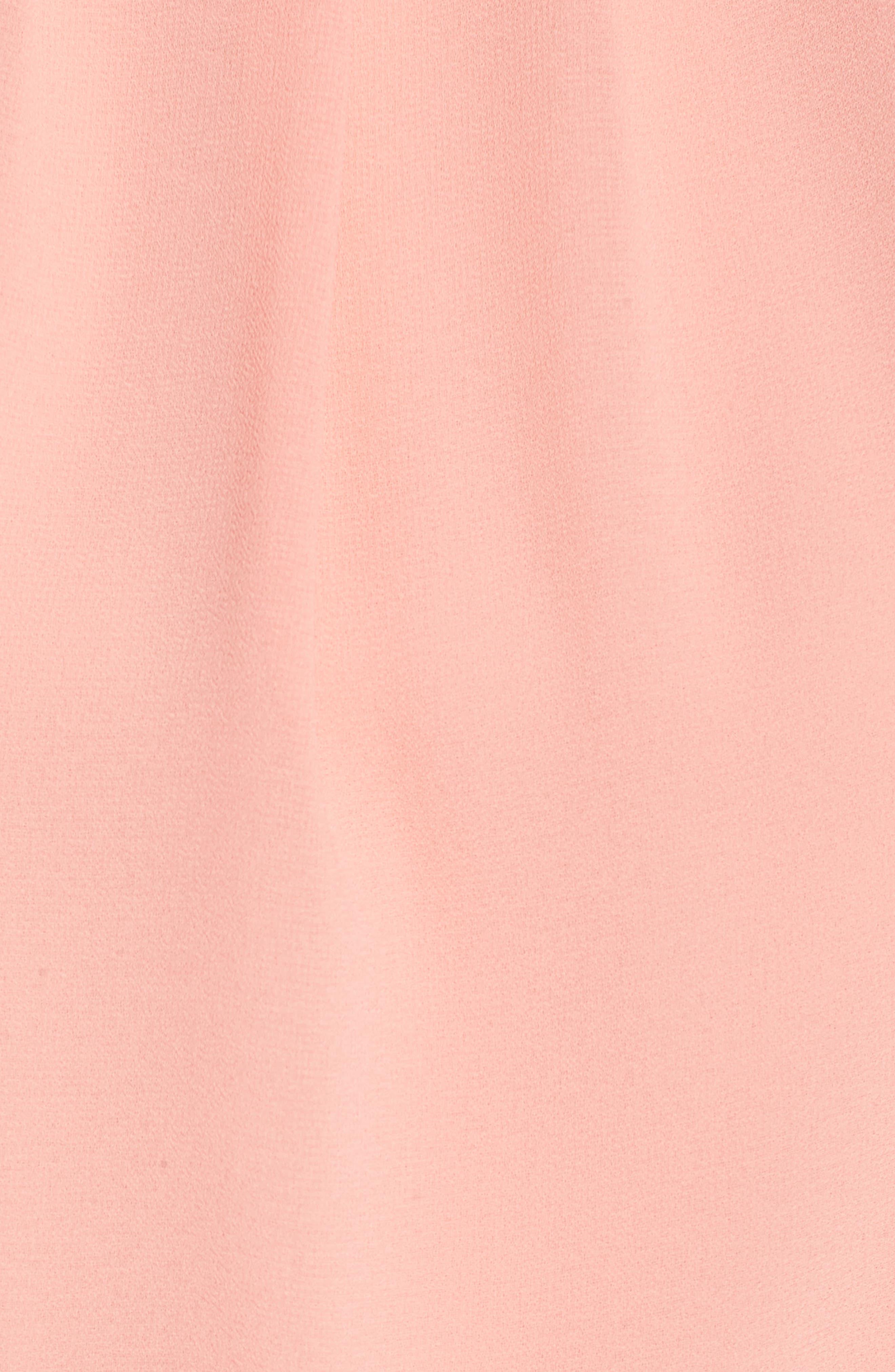 Blouson Chiffon Skater Dress,                             Alternate thumbnail 6, color,                             Peach