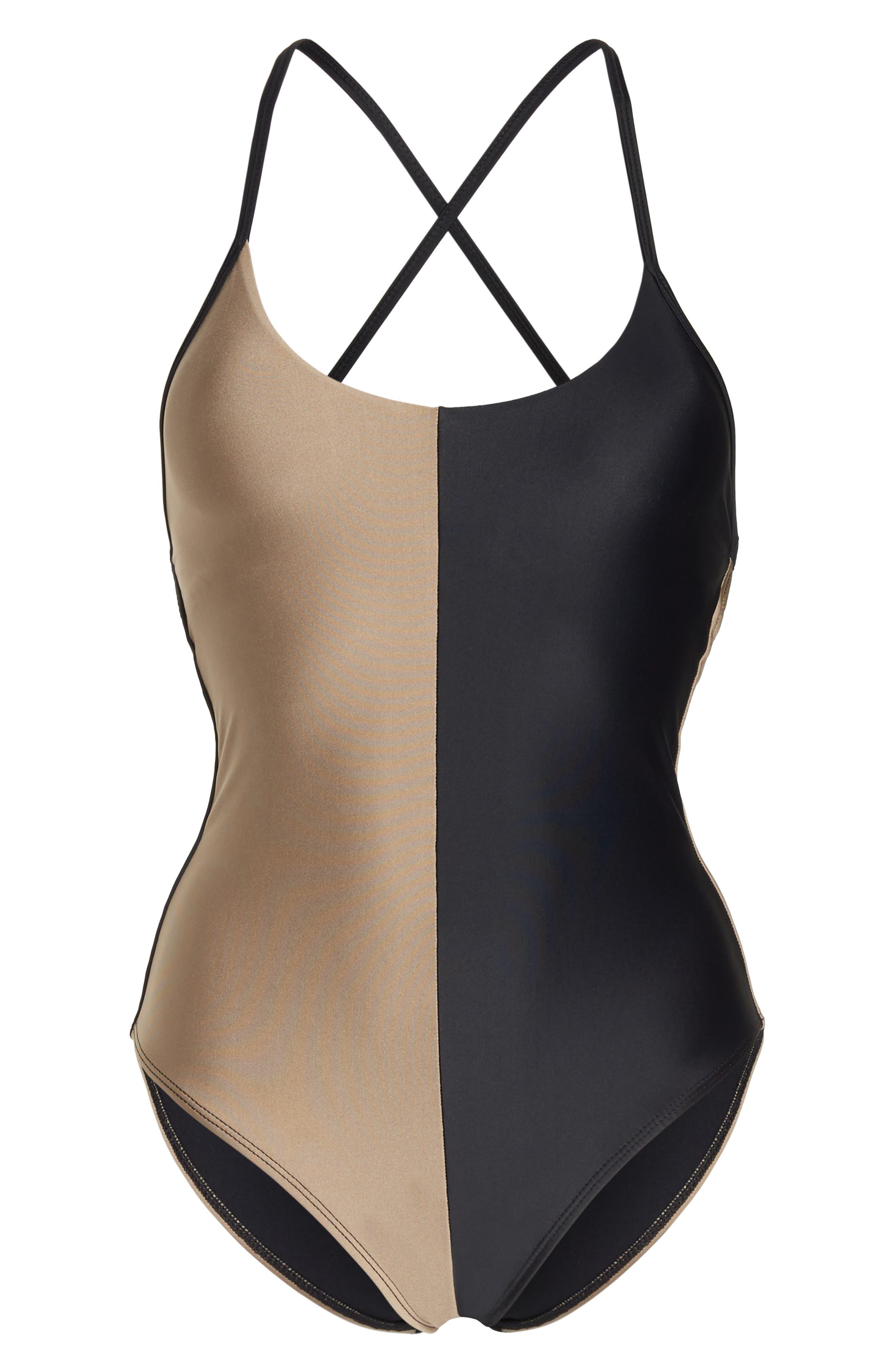 Farrah One-Piece Swimsuit,                             Alternate thumbnail 6, color,                             Cadillac