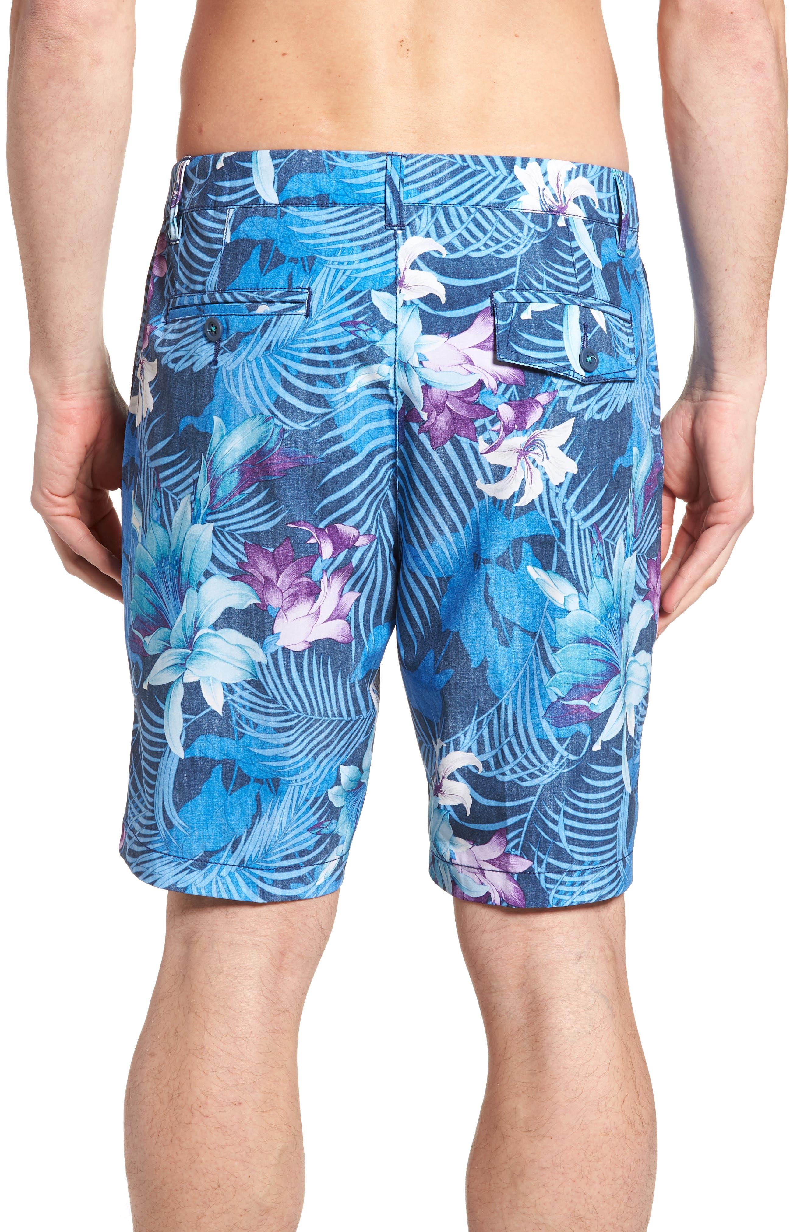 Cayman Laredo Blooms Board Shorts,                             Alternate thumbnail 2, color,                             Ocean Deep