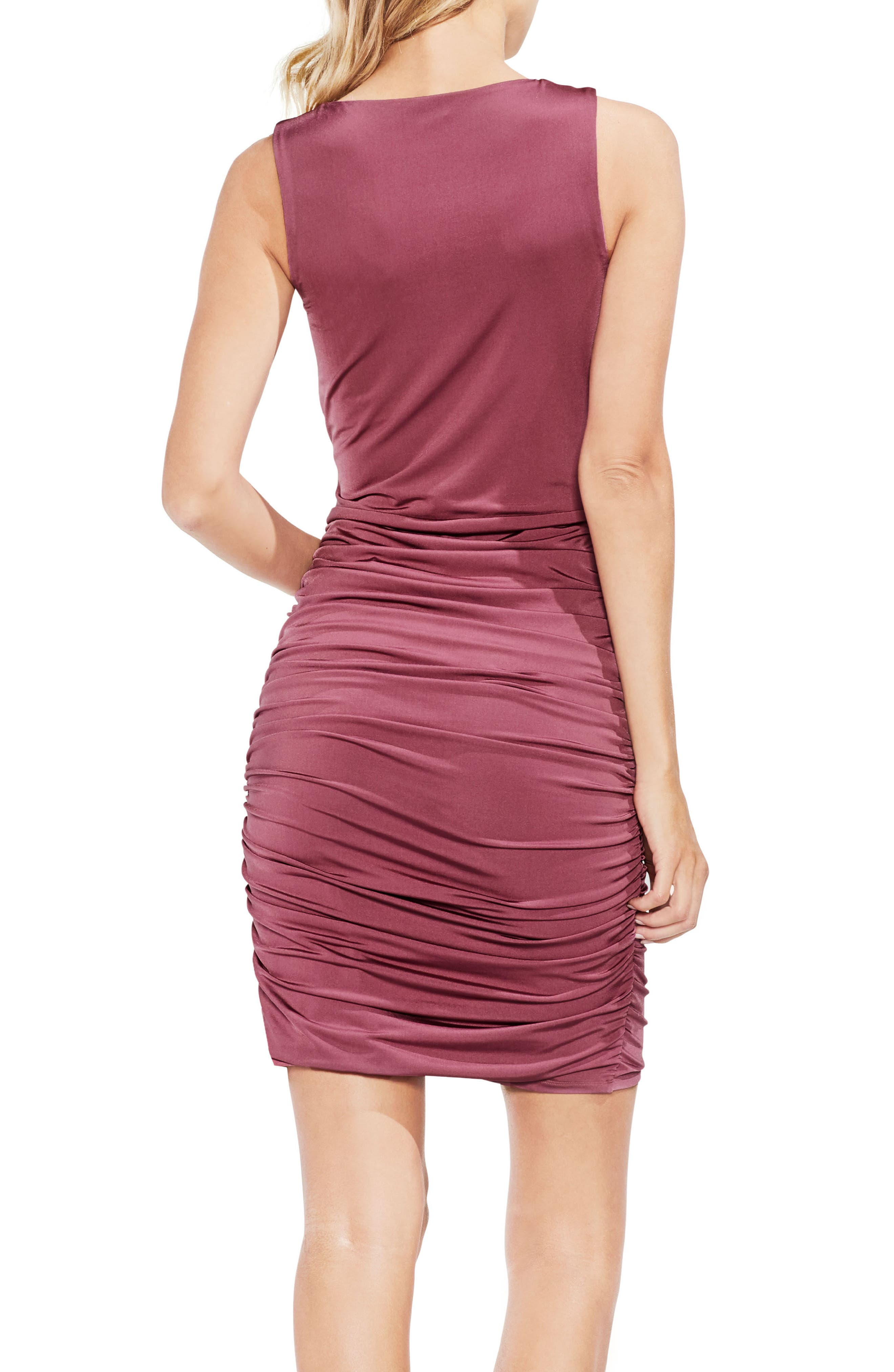 Ruched Liquid Knit Body-Con Dress,                             Alternate thumbnail 2, color,                             Summer Rose