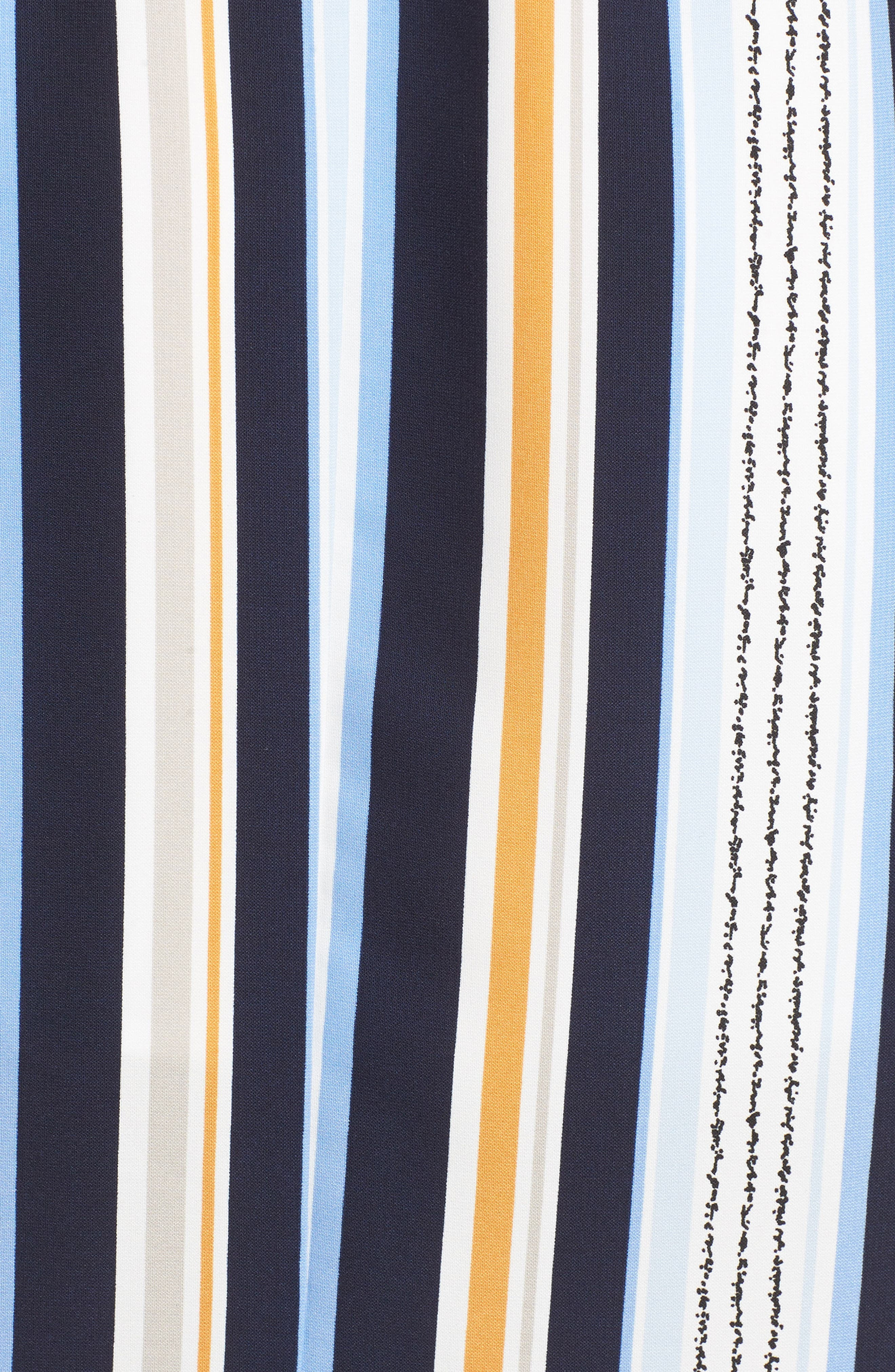 Claudia Stripe Midi Dress,                             Alternate thumbnail 7, color,                             Blue/ Orange Stripe