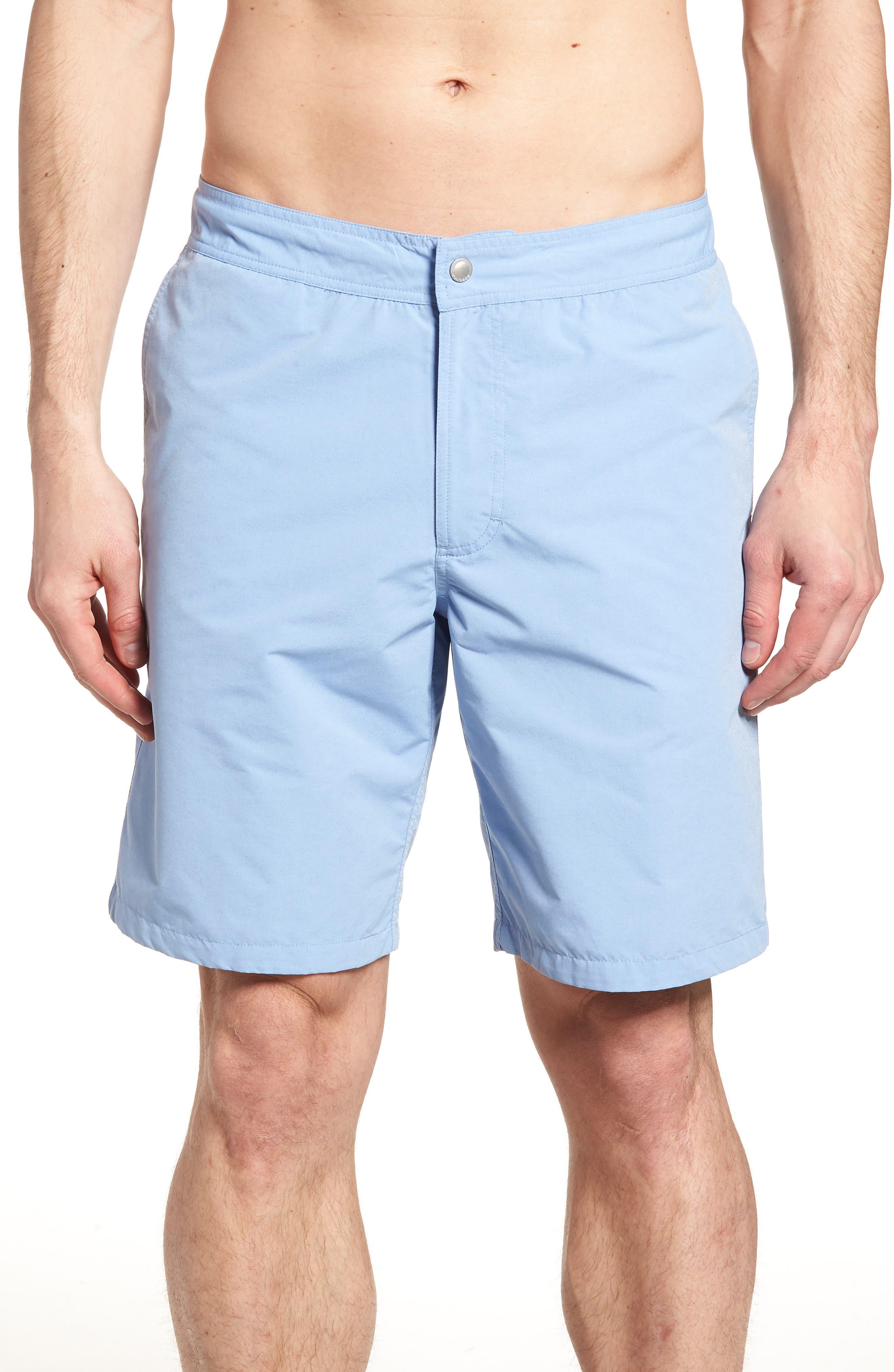 Banzai 9-Inch Swim Trunks,                         Main,                         color, Blue Chambray
