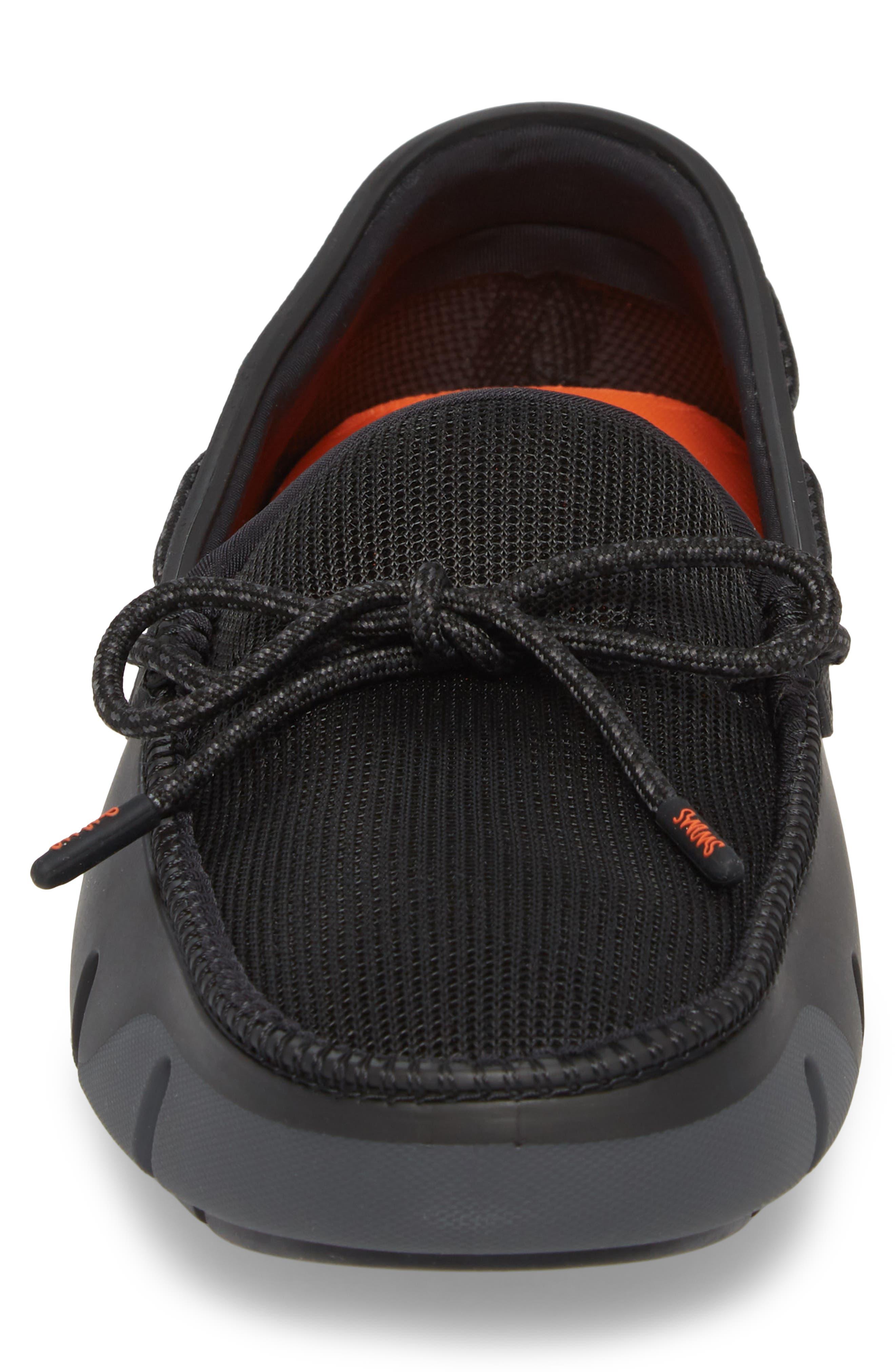 Stride Lace Loafer,                             Alternate thumbnail 4, color,                             Black / Graphite Fleck