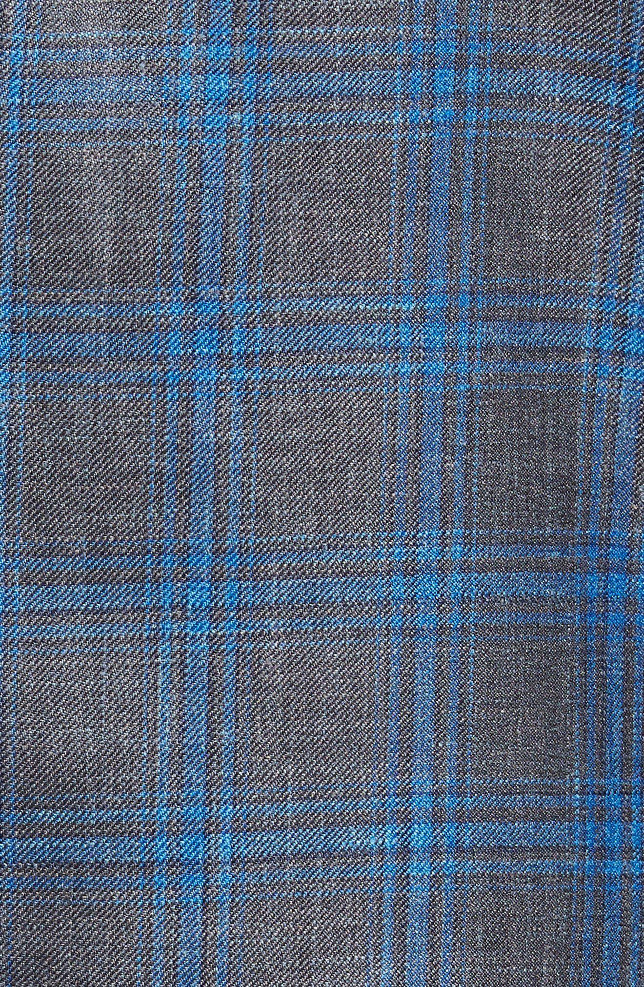 Marina Windowpane Wool & Silk Blend Sport Coat,                             Alternate thumbnail 5, color,                             Onda Blue