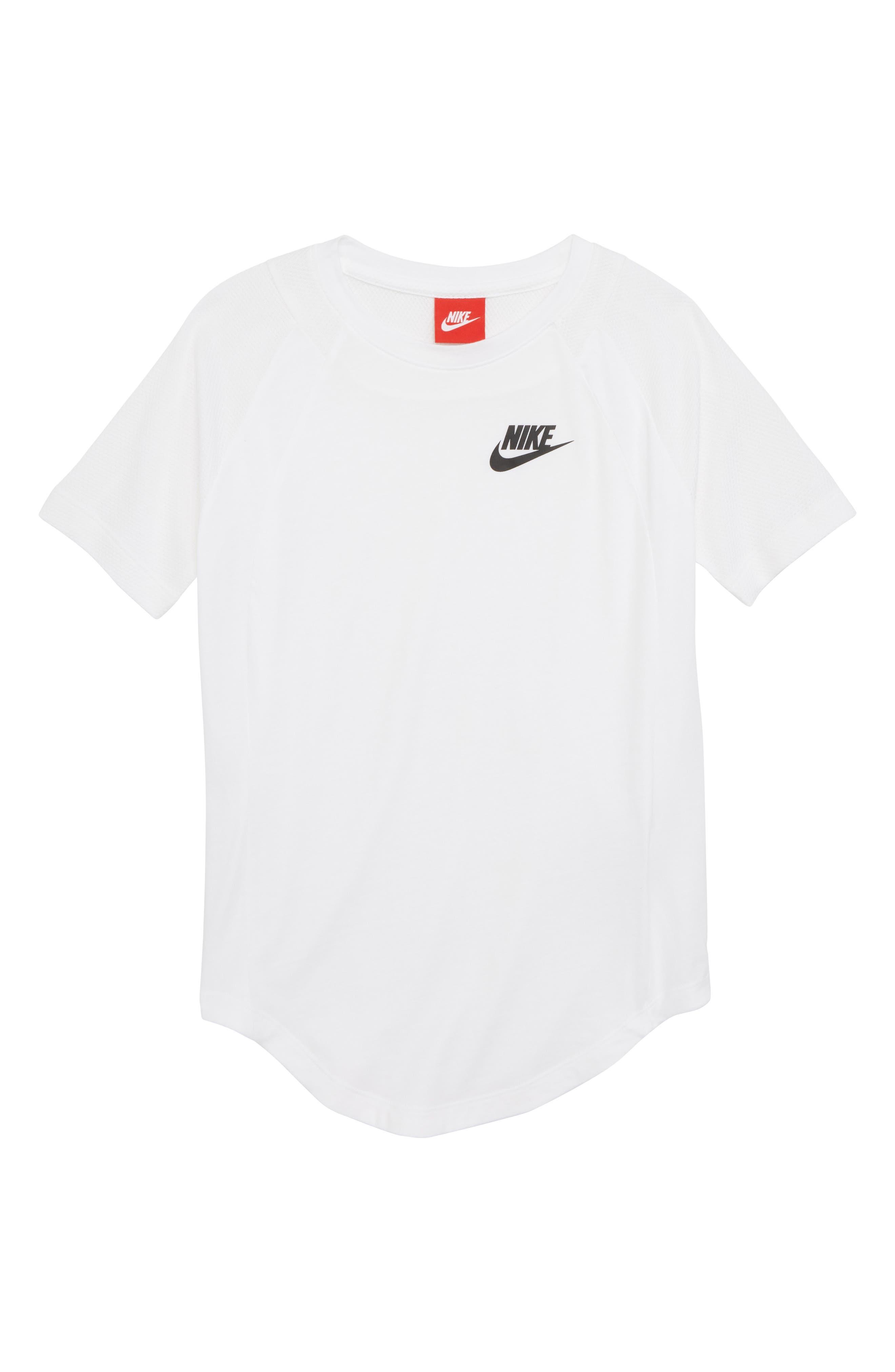 Sportswear Tee,                         Main,                         color, White/ Black