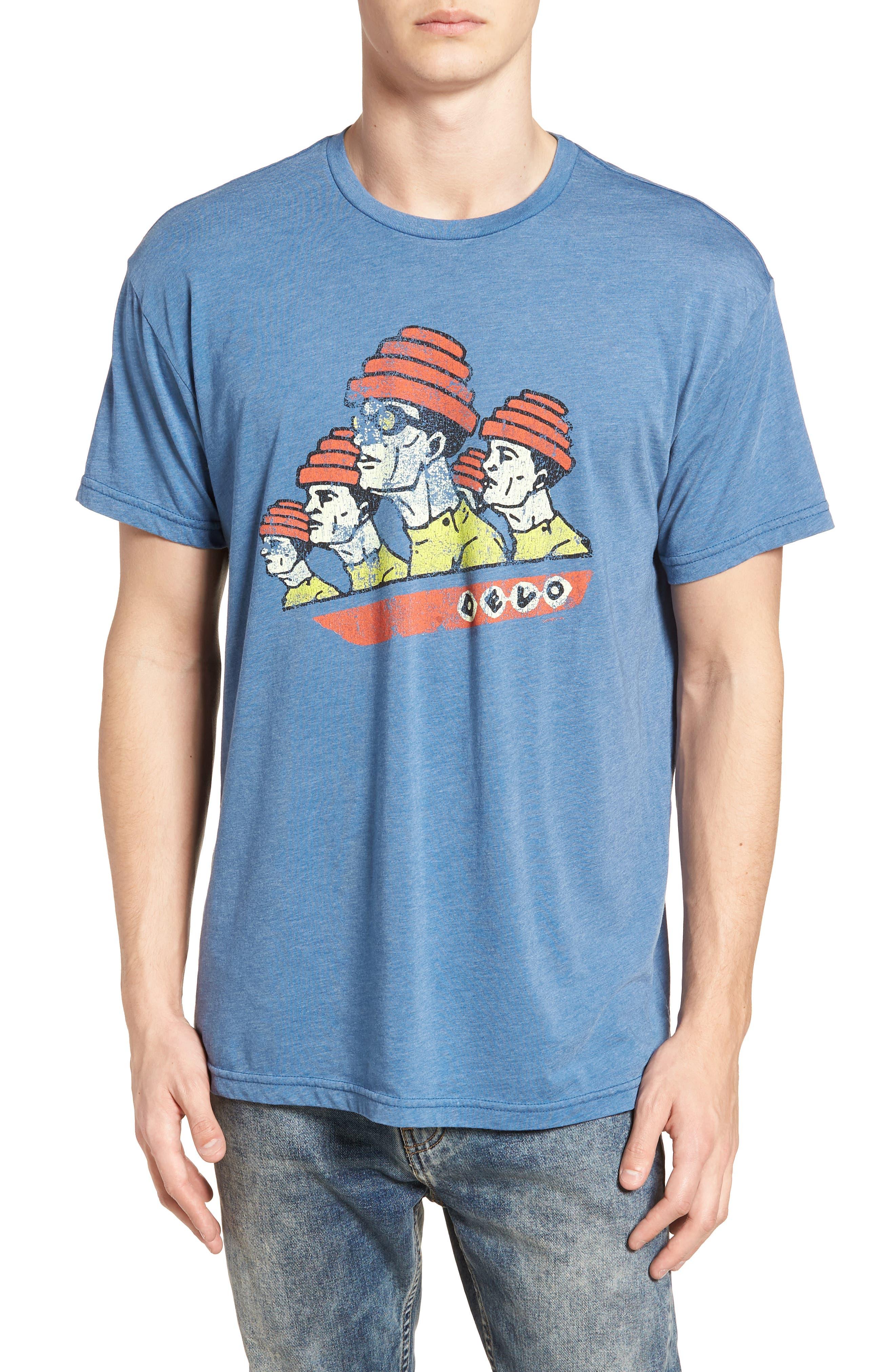 Devo Graphic T-Shirt,                             Main thumbnail 1, color,                             Heather Blue