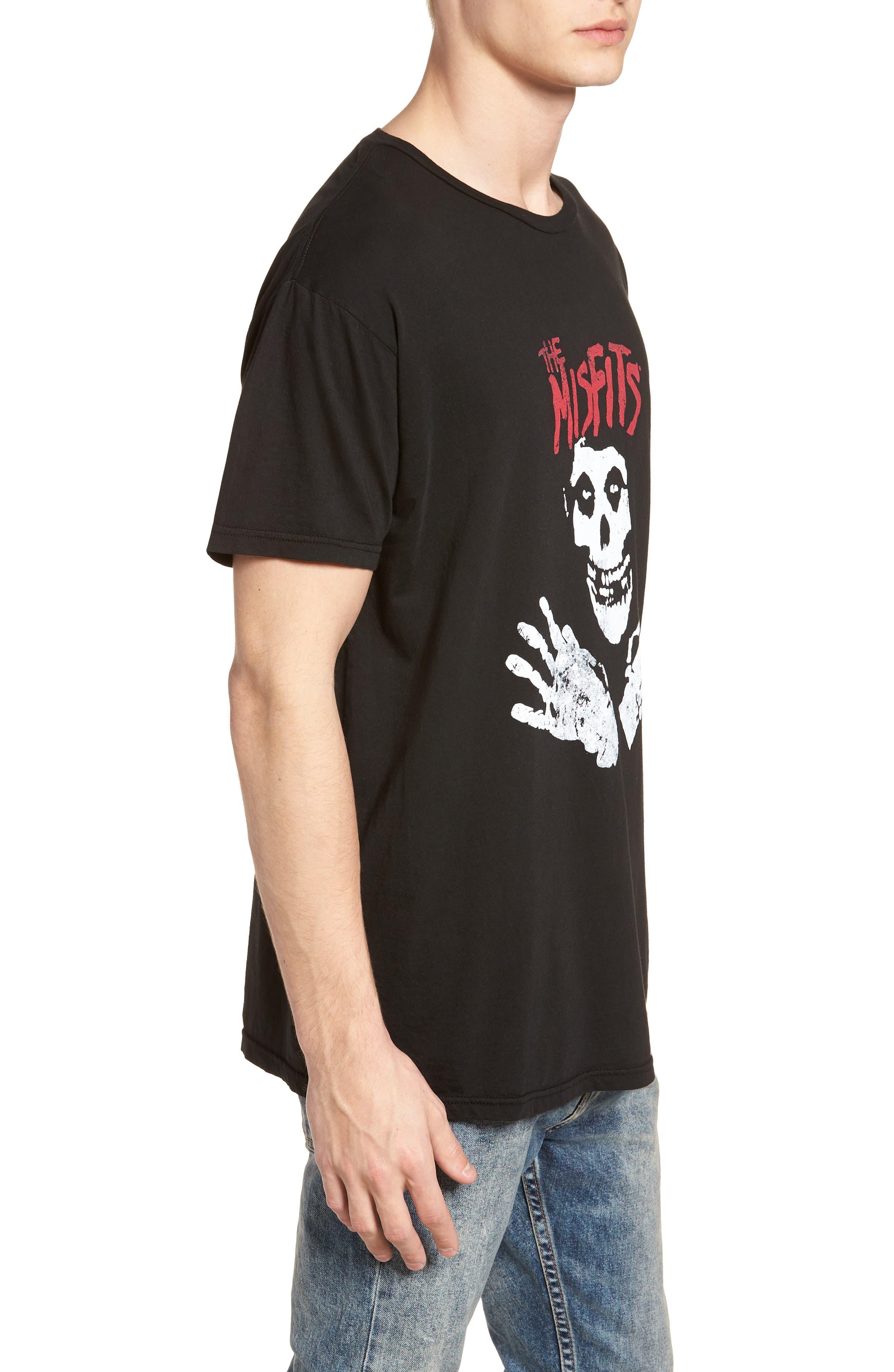 Misfits Graphic T-Shirt,                             Alternate thumbnail 3, color,                             Black
